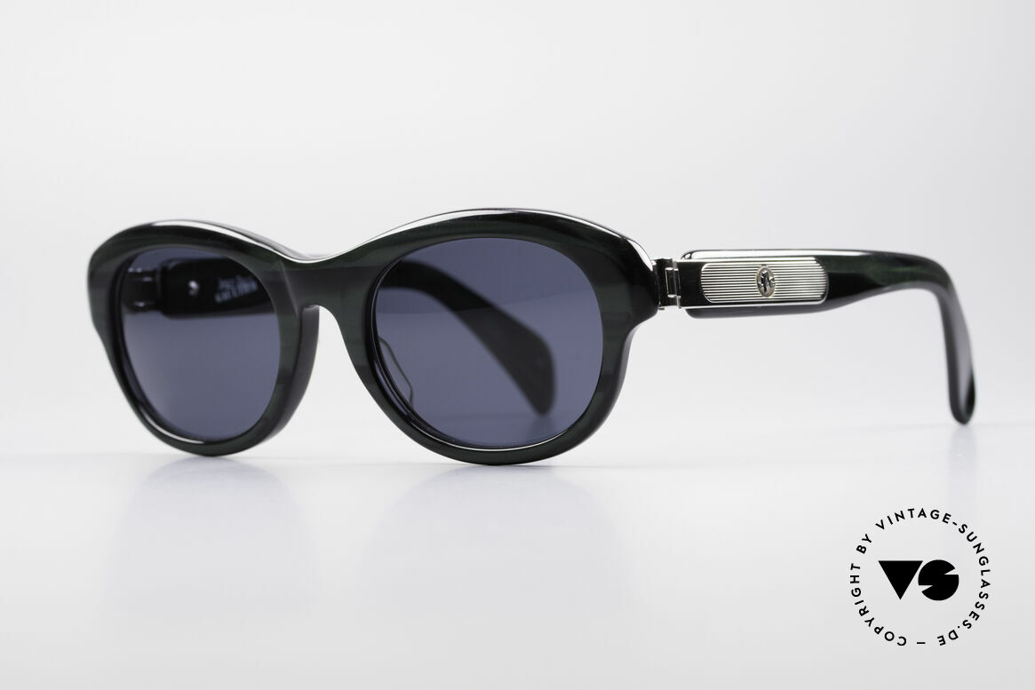Jean Paul Gaultier 56-2071 True Vintage No Retro Specs, enormous massive frame with striking metal appliqué, Made for Women