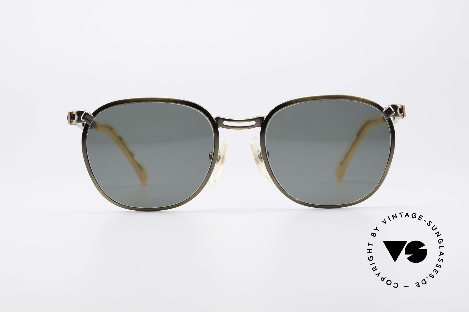 Jean Paul Gaultier 56-2177 90's Designer Sunglasses, unusual discreet design by eccentric J.P. Gaultier, Made for Men and Women