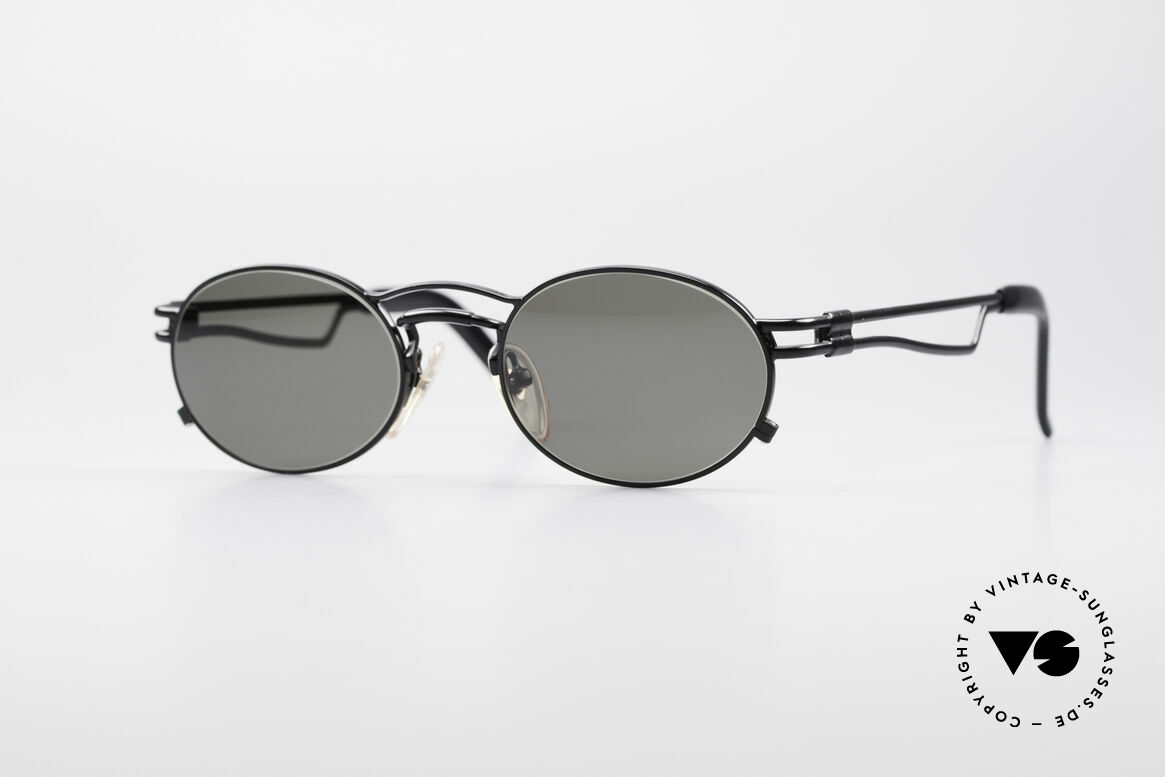 Jean Paul Gaultier 56-3173 Oval Vintage Sunglasses, true vintage 1990's Jean Paul GAULTIER sunglasses, Made for Men and Women