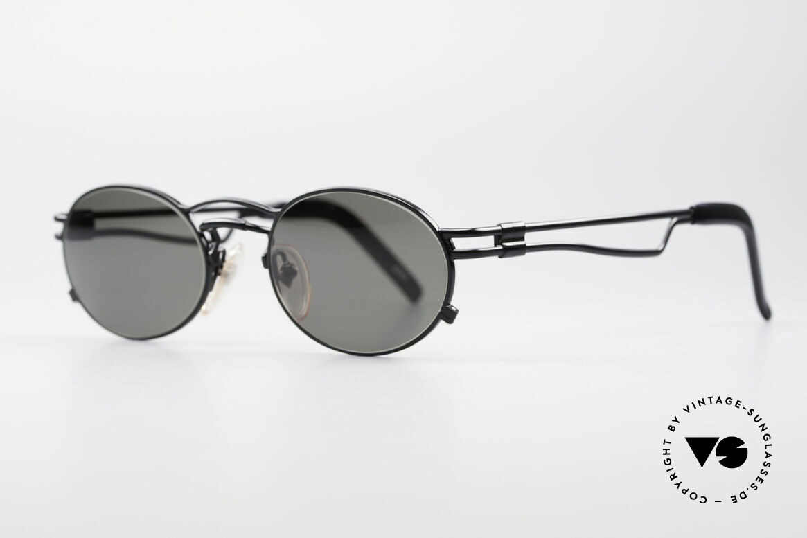 Jean Paul Gaultier 56-3173 Oval Vintage Sunglasses, lightweight metal, ergonomic arms; made in Japan, Made for Men and Women
