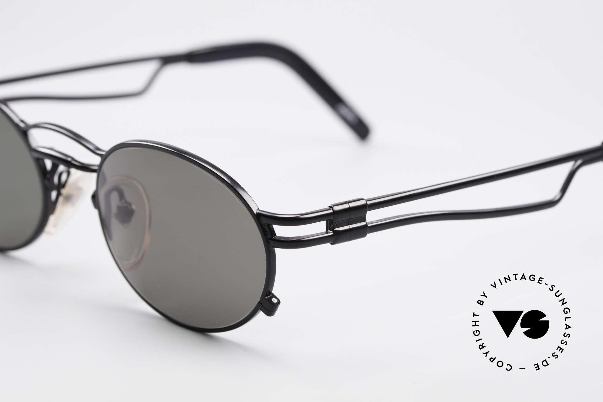 Jean Paul Gaultier 56-3173 Oval Vintage Sunglasses, dark green/gray sun lenses for 100% UV protection, Made for Men and Women