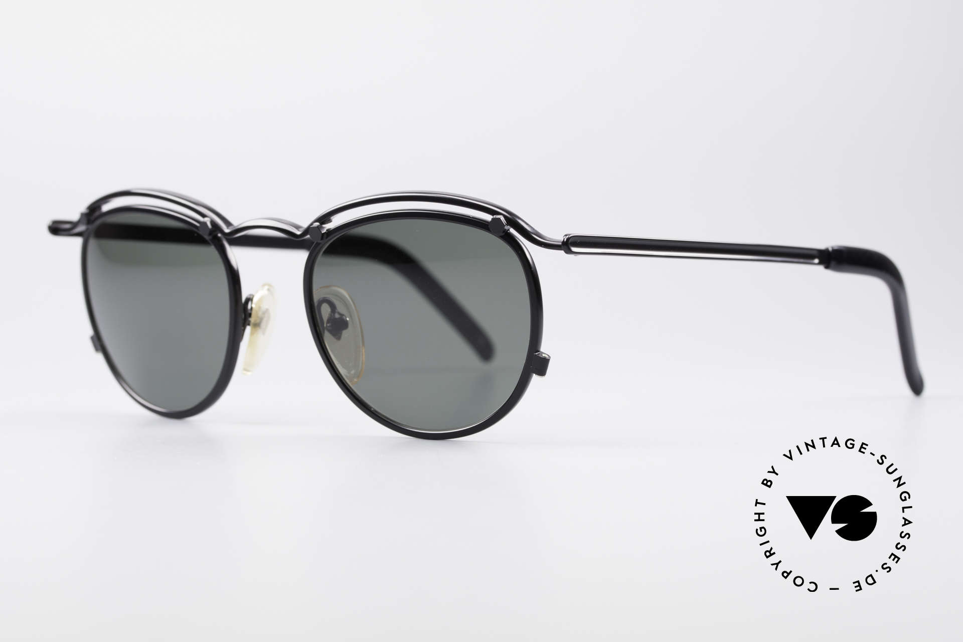 Jean Paul Gaultier 56-1174 Steampunk Panto Glasses, ultra stable metal frame (built to last) in black color, Made for Men and Women