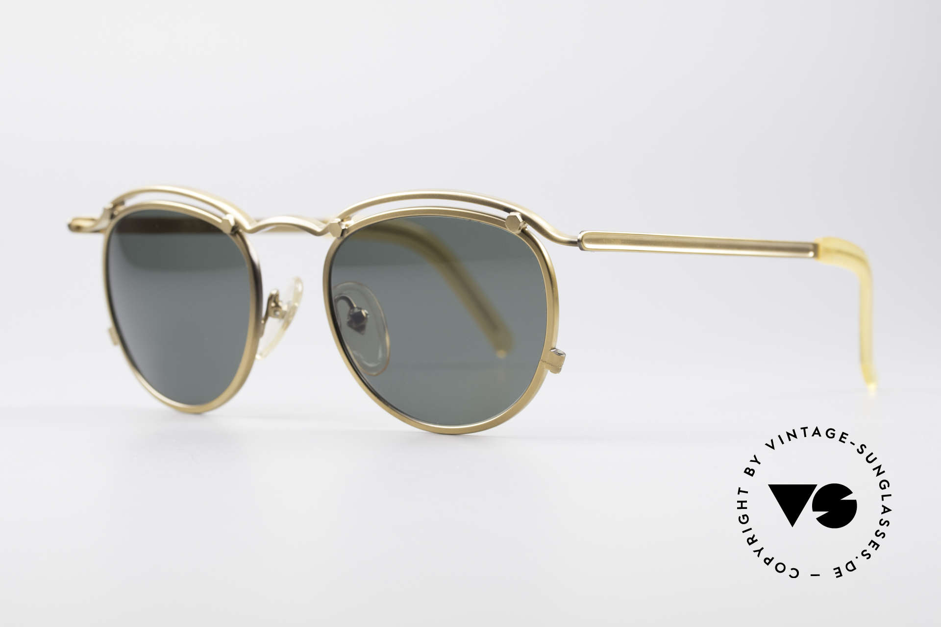 Jean Paul Gaultier 56-1174 Steampunk Panto Shades, high-end frame (built to last) in brass / antique gold, Made for Men and Women