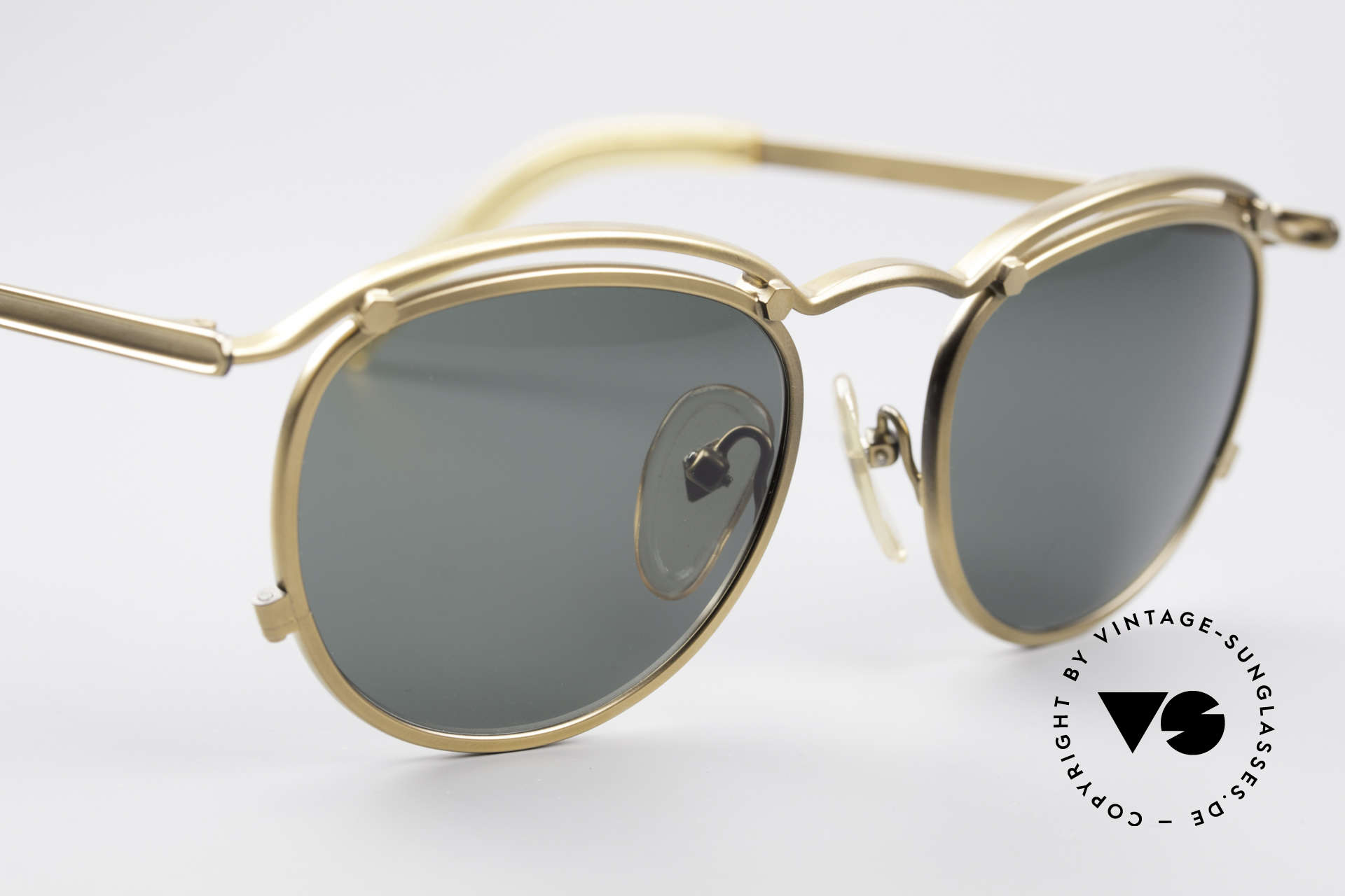 Jean Paul Gaultier 56-1174 Steampunk Panto Shades, NO RETRO shades, but an authentic old 90s Original!, Made for Men and Women