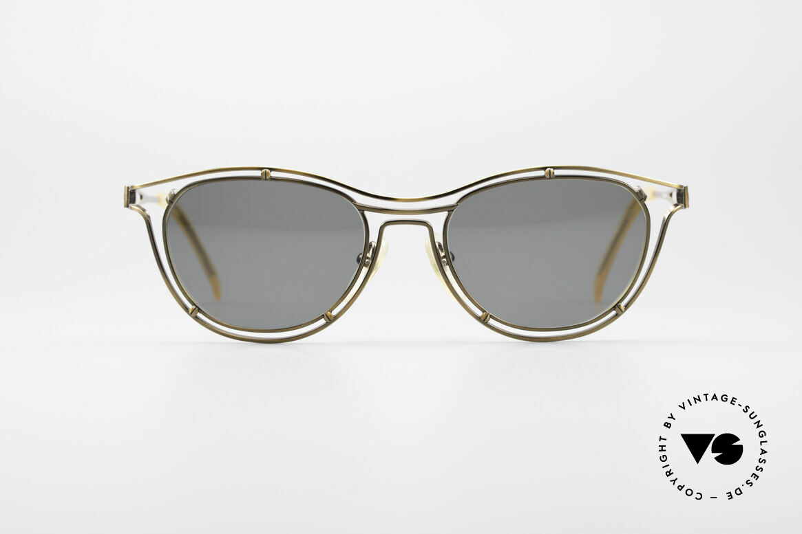 Jean Paul Gaultier 56-2176 Rare Designer Sunglasses, brilliant frame construction; a true eye-catcher!, Made for Men and Women