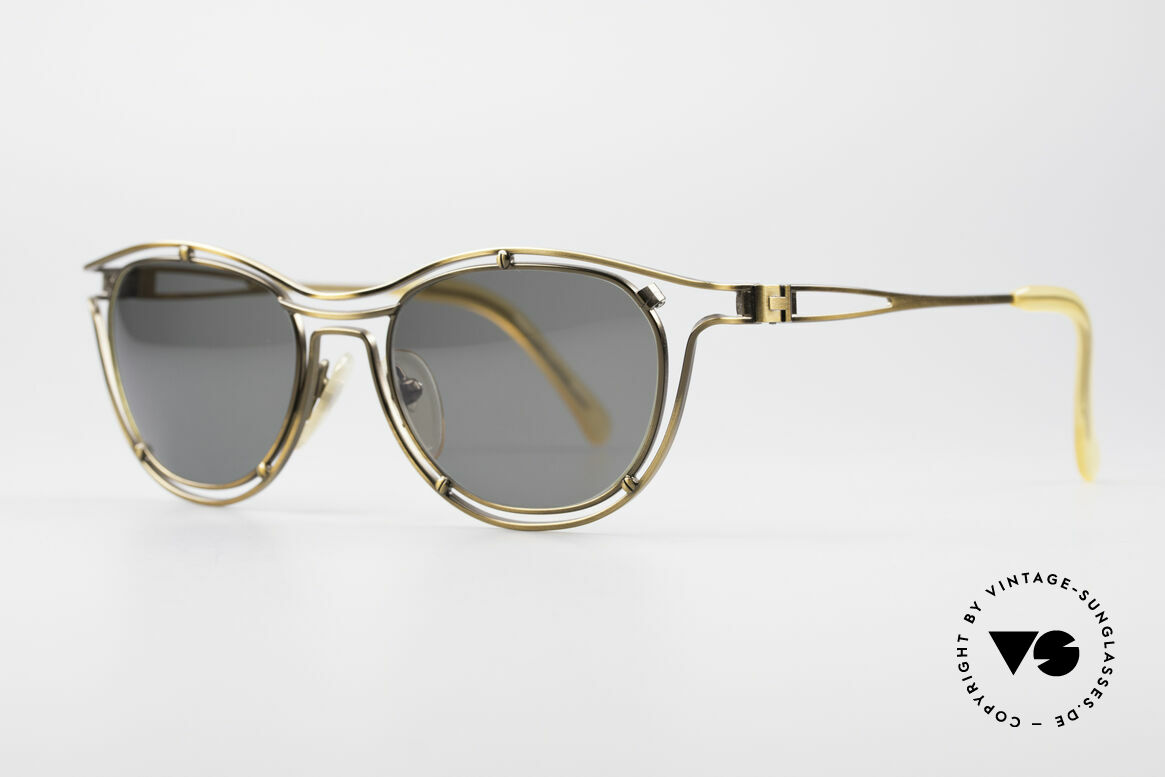 Jean Paul Gaultier 56-2176 Rare Designer Sunglasses, noble bronze luster and dark-green / gray lenses, Made for Men and Women