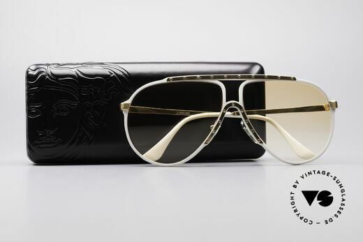 Alpina M1 Iconic 80's Sunglasses, orange-gradient sun lenses (also wearable at night), Made for Men and Women