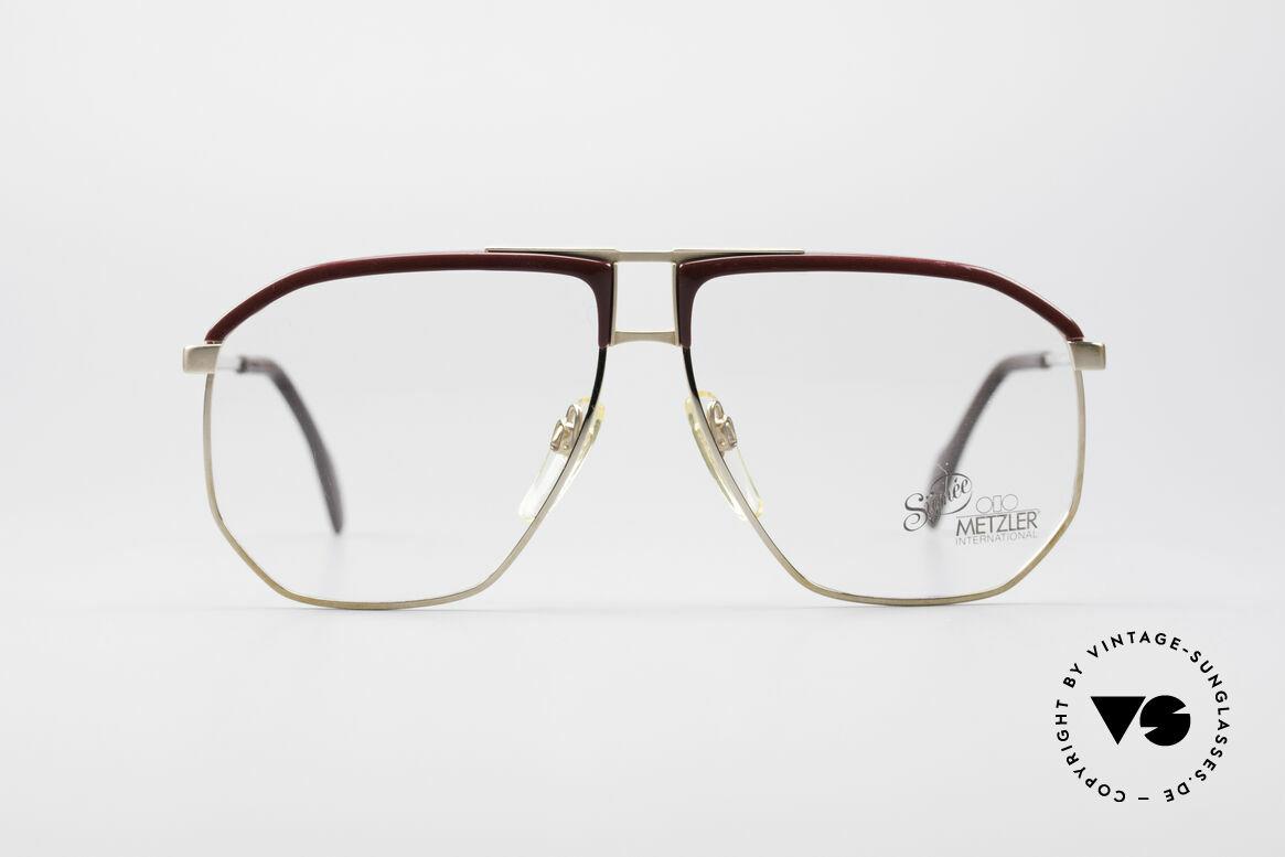 Metzler 0788 True Vintage 80's Glasses, old 80's original; monolithic design (You must feel it!), Made for Men