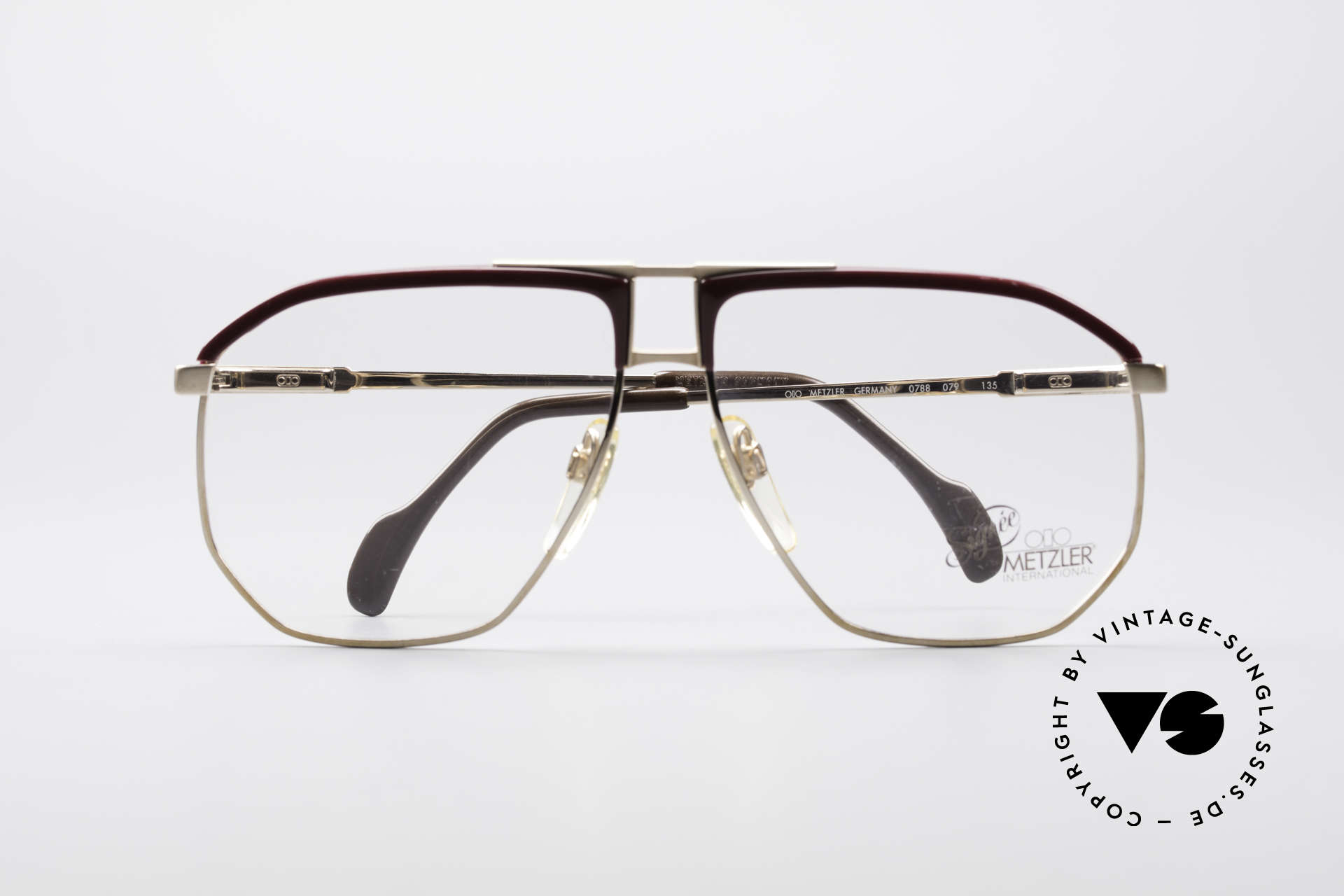 Metzler 0788 True Vintage 80's Glasses, the frame is made for optical lenses or tinted sun lenses, Made for Men