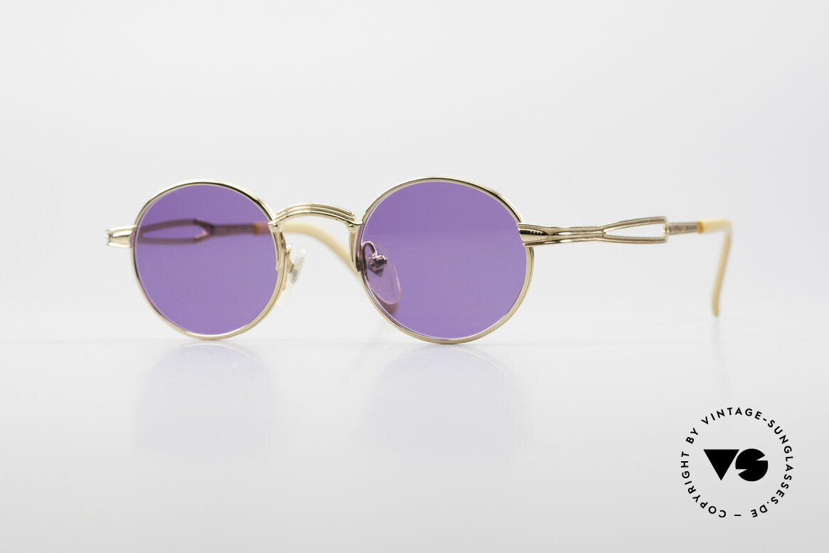 Jean Paul Gaultier 55-7107 Small Round Gold Plated, small round vintage shades by Jean Paul GAULTIER, Made for Men and Women