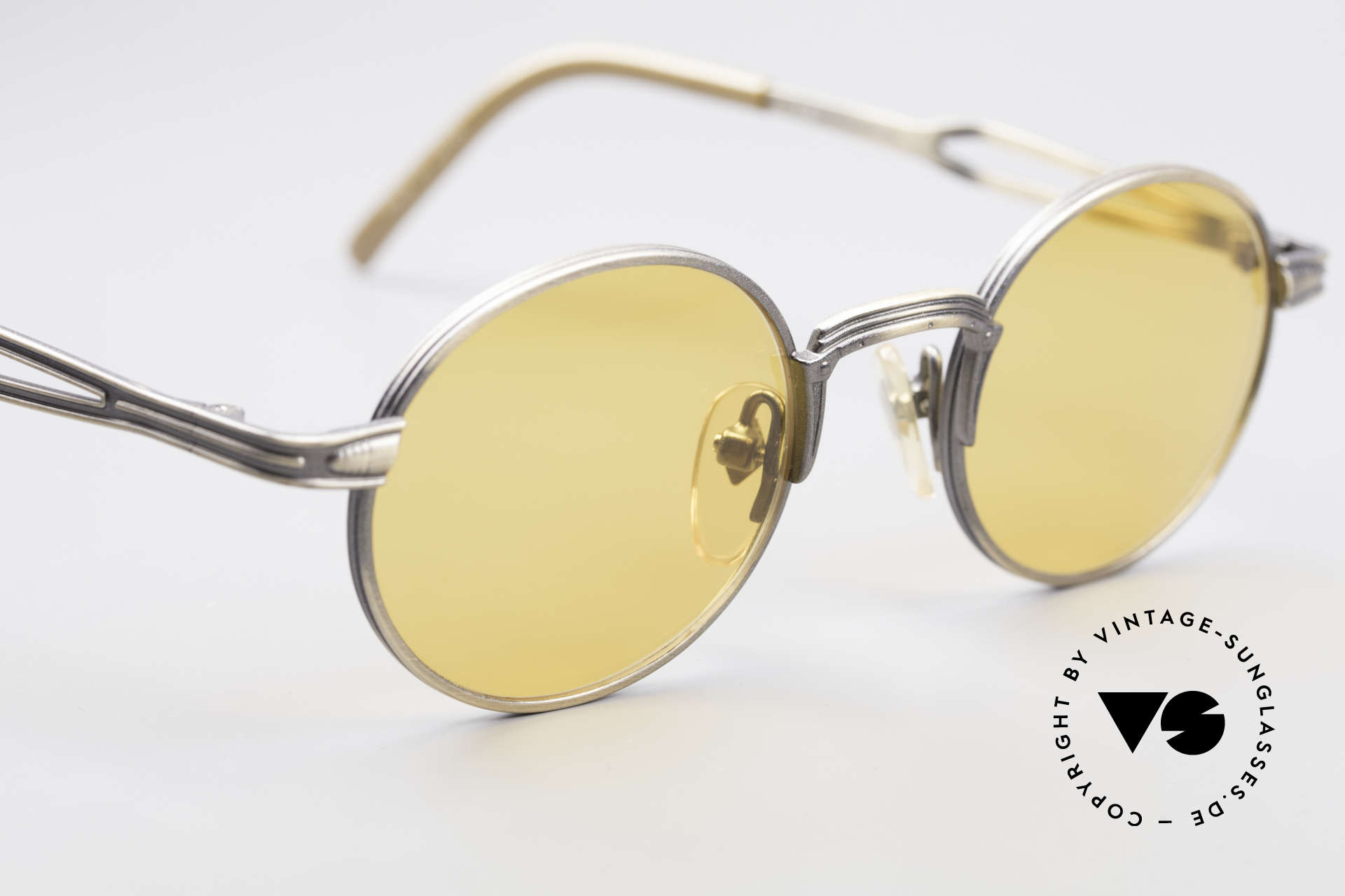 Jean Paul Gaultier 55-7107 Round Vintage Sunglasses, unworn (like all our vintage GAULTIER sunglasses), Made for Men and Women