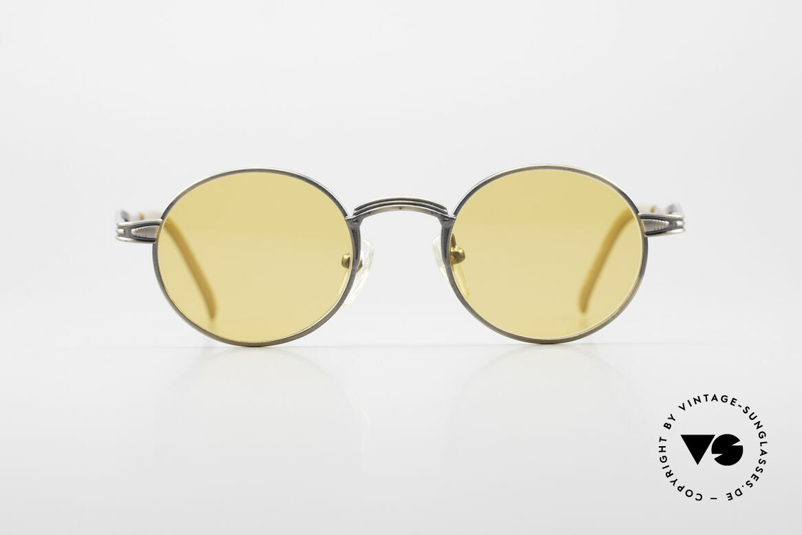 Jean Paul Gaultier 55-7107 Round Vintage Sunglasses, 'metallic smoke gold' designer frame; size 44-20, Made for Men and Women