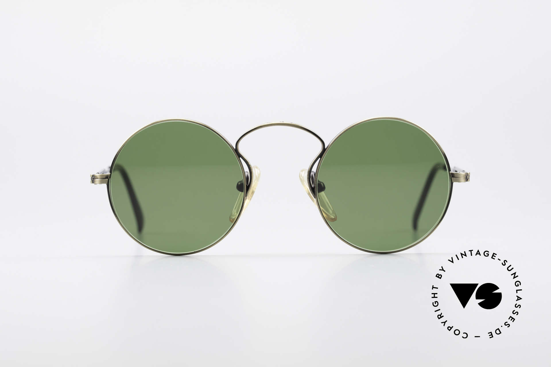 Jean Paul Gaultier 55-0172 90's Designer Sunglasses, round metal frame; lightweight & very comfortable, Made for Men and Women