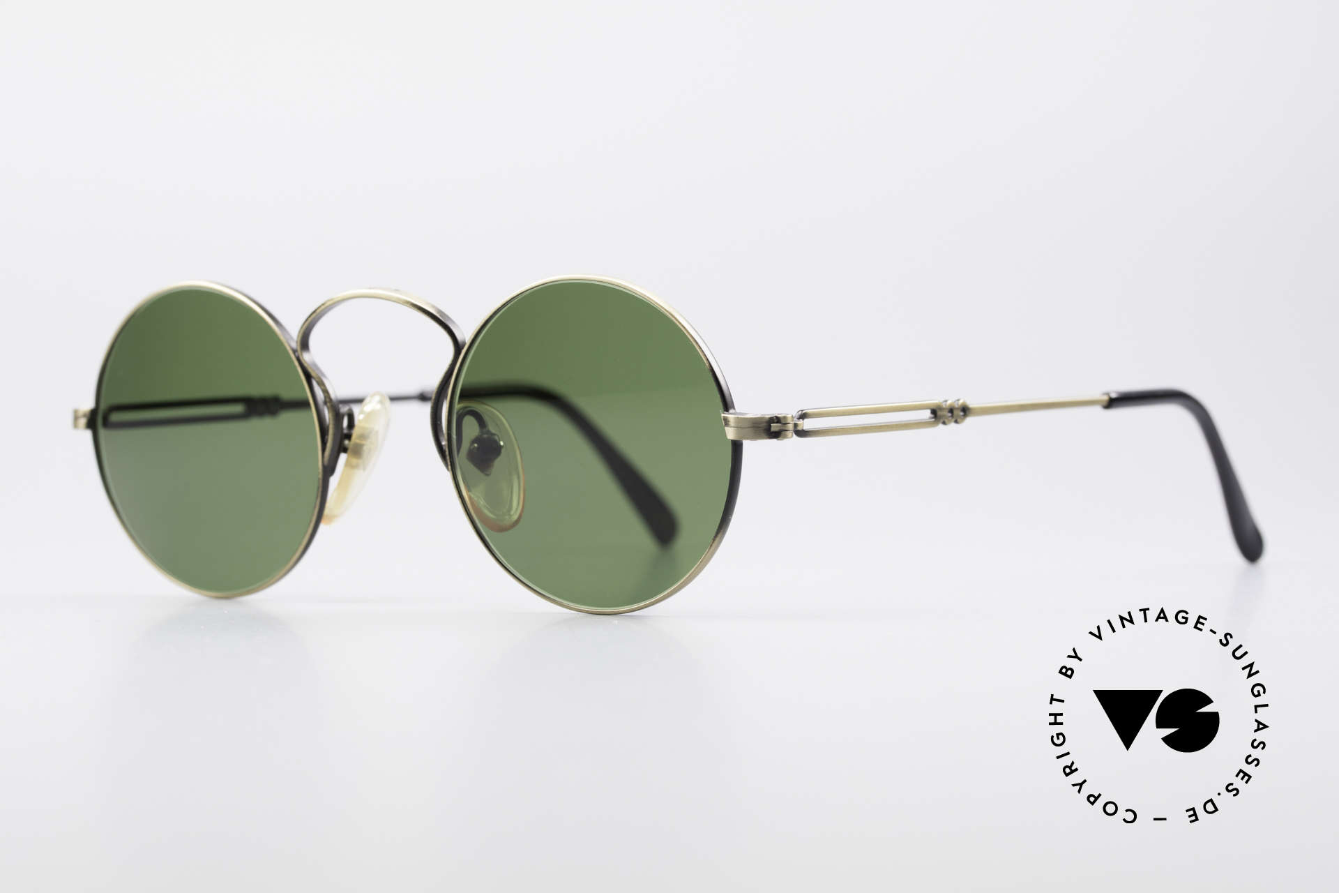"""Jean Paul Gaultier 55-0172 90's Designer Sunglasses, high-class finish (brushed metal in """"antique gold""""), Made for Men and Women"""