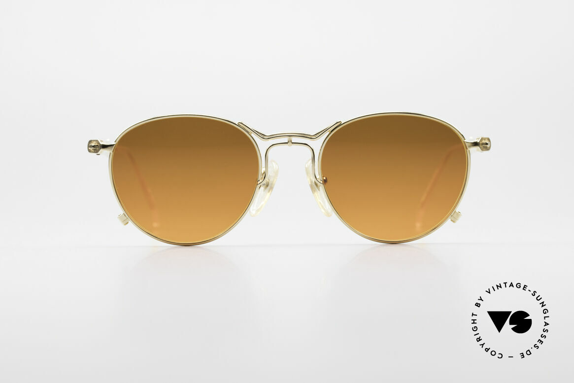 Jean Paul Gaultier 55-2177 Gold Plated Designer Frame, elegant contrast between lenses and gold-plated frame, Made for Men and Women