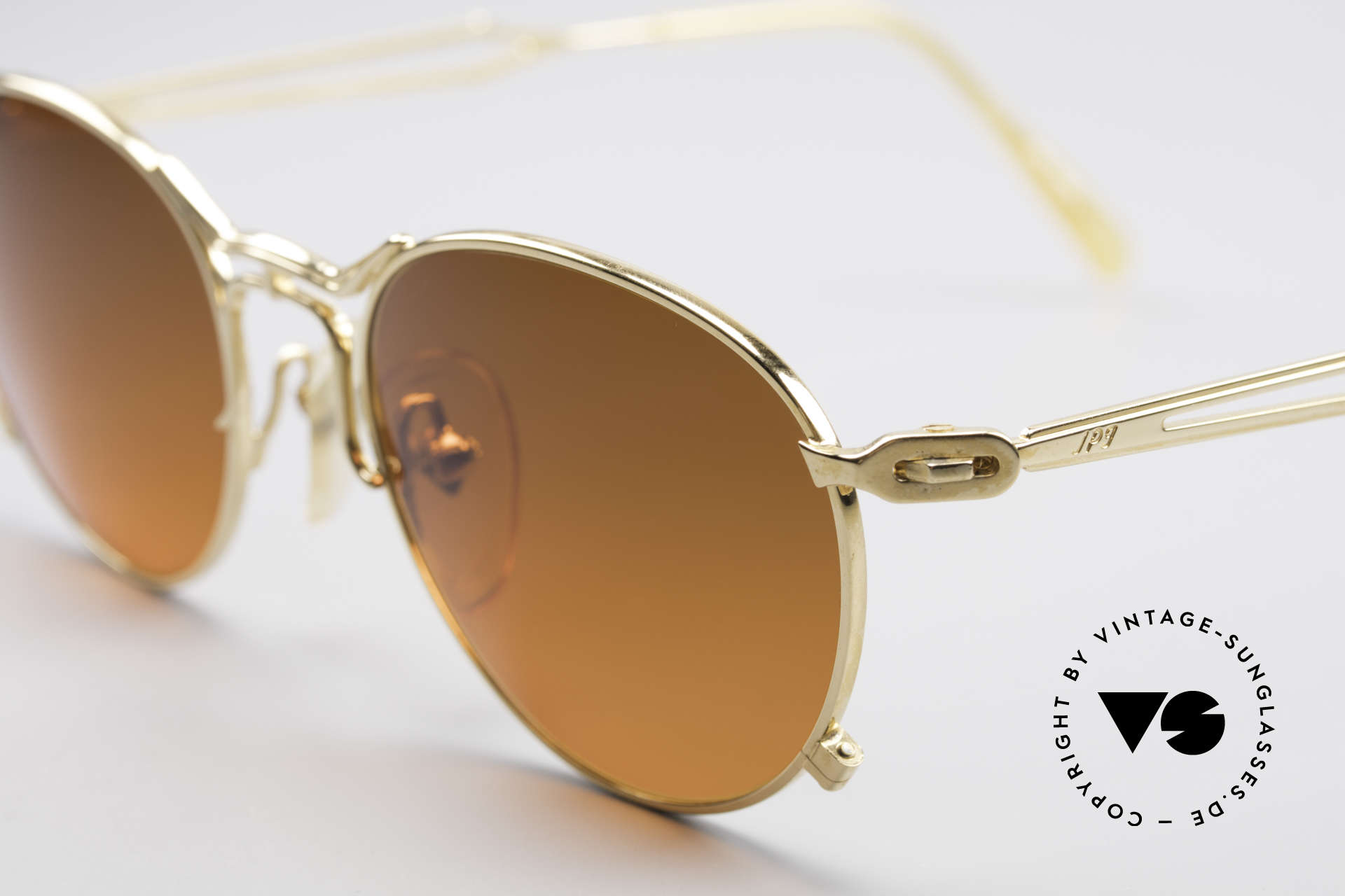Jean Paul Gaultier 55-2177 Gold Plated Designer Frame, top-notch craftsmanship (made in Japan) from 1996/97, Made for Men and Women