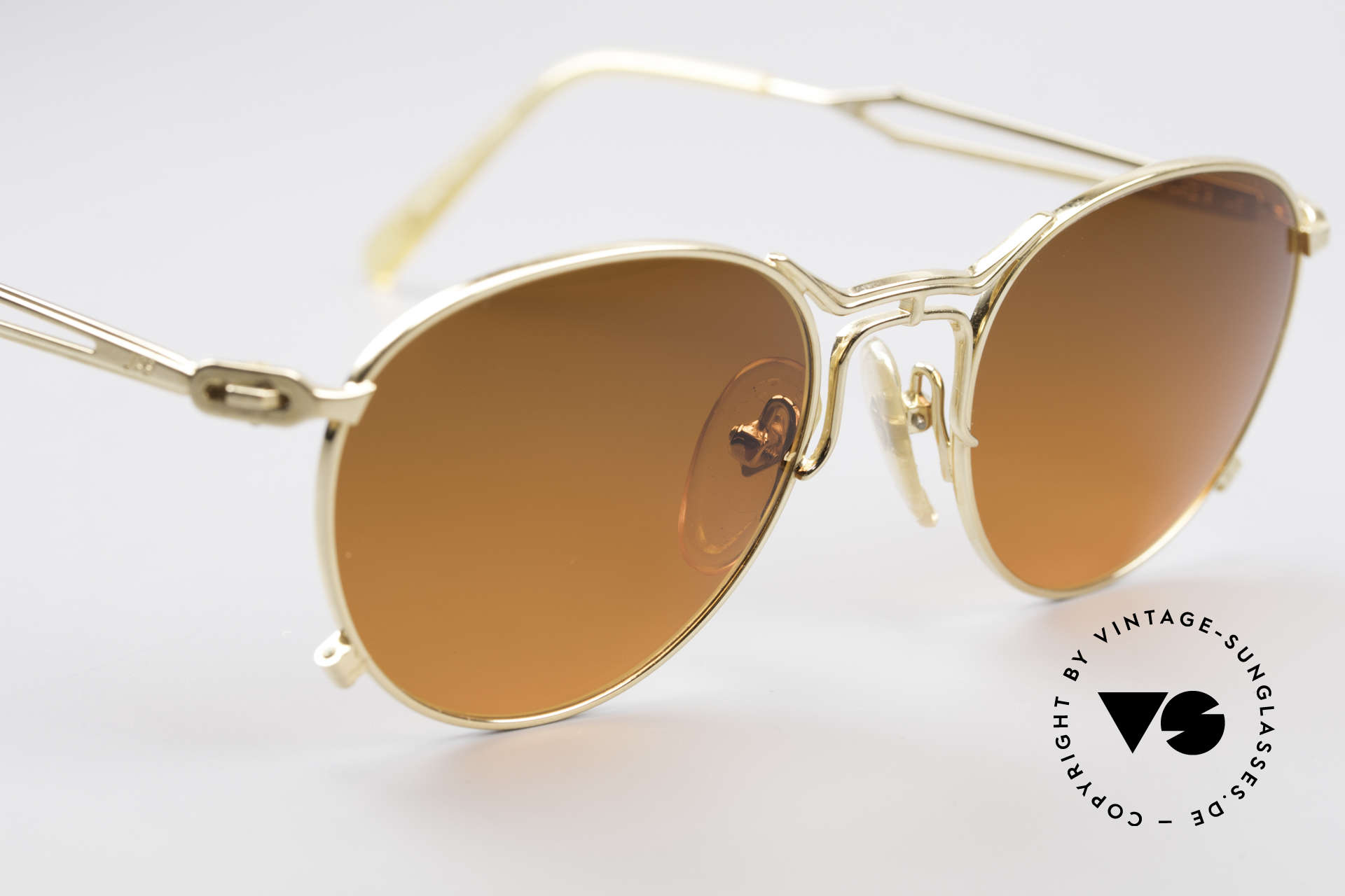 Jean Paul Gaultier 55-2177 Gold Plated Designer Frame, unworn (like all our rare vintage 90's designer glasses), Made for Men and Women