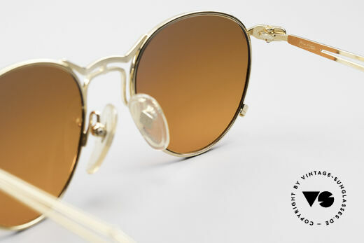 Jean Paul Gaultier 55-2177 Gold Plated Designer Frame, NO RETRO SHADES; but a precious old J.P.G. ORIGINAL, Made for Men and Women