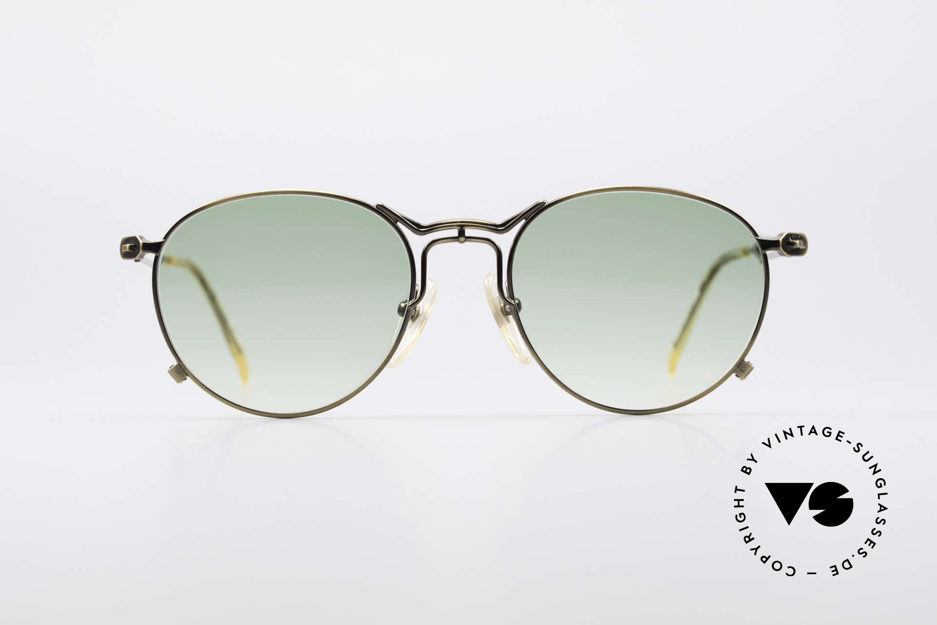 Jean Paul Gaultier 55-2177 True Vintage No Retro Frame, costly, unique frame finish: METALLIC SMOKE GOLD, Made for Men and Women