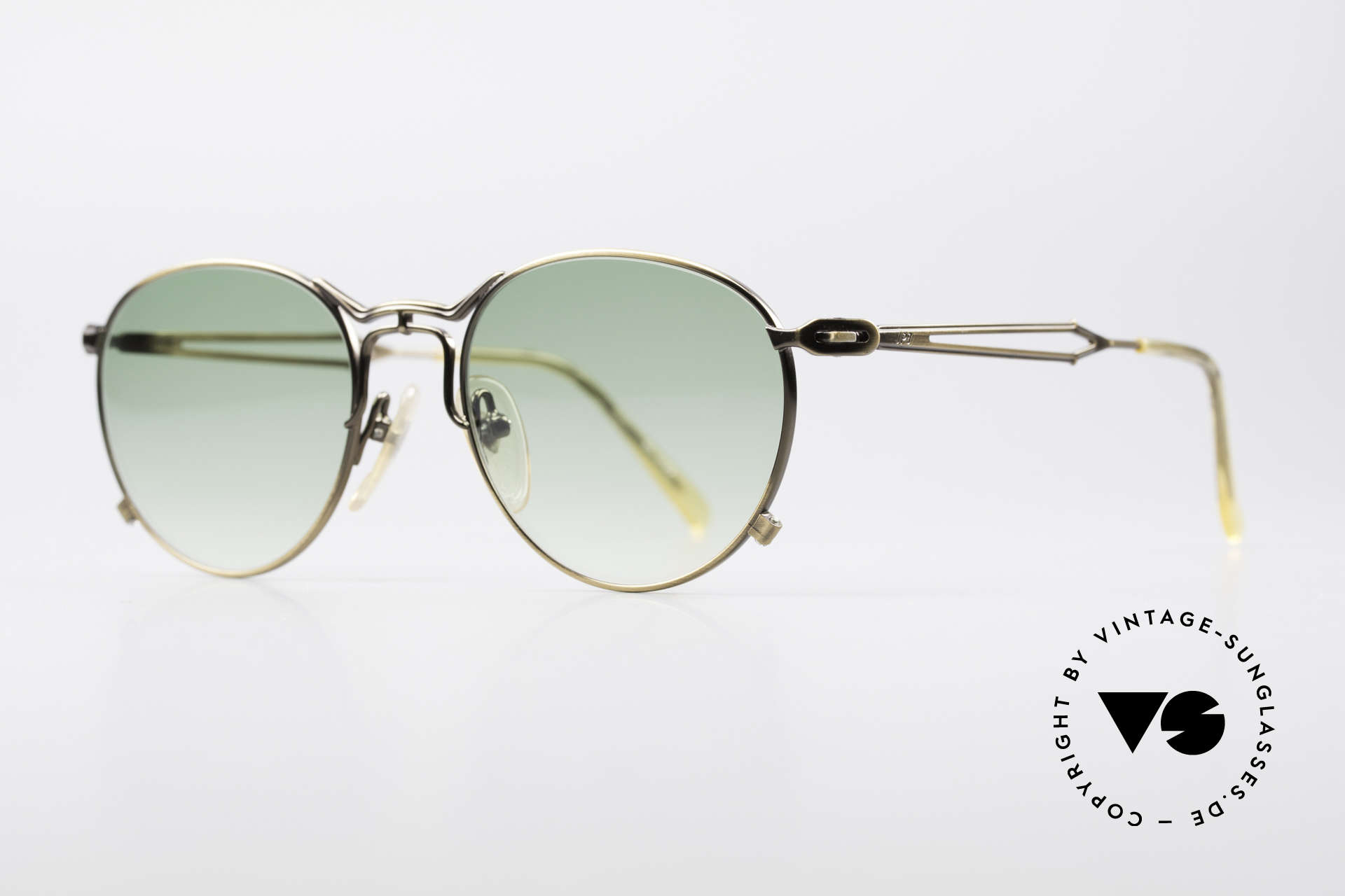 """Jean Paul Gaultier 55-2177 True Vintage No Retro Frame, also called by Gaultier: """"burnt gold"""" or """"antique gold"""", Made for Men and Women"""