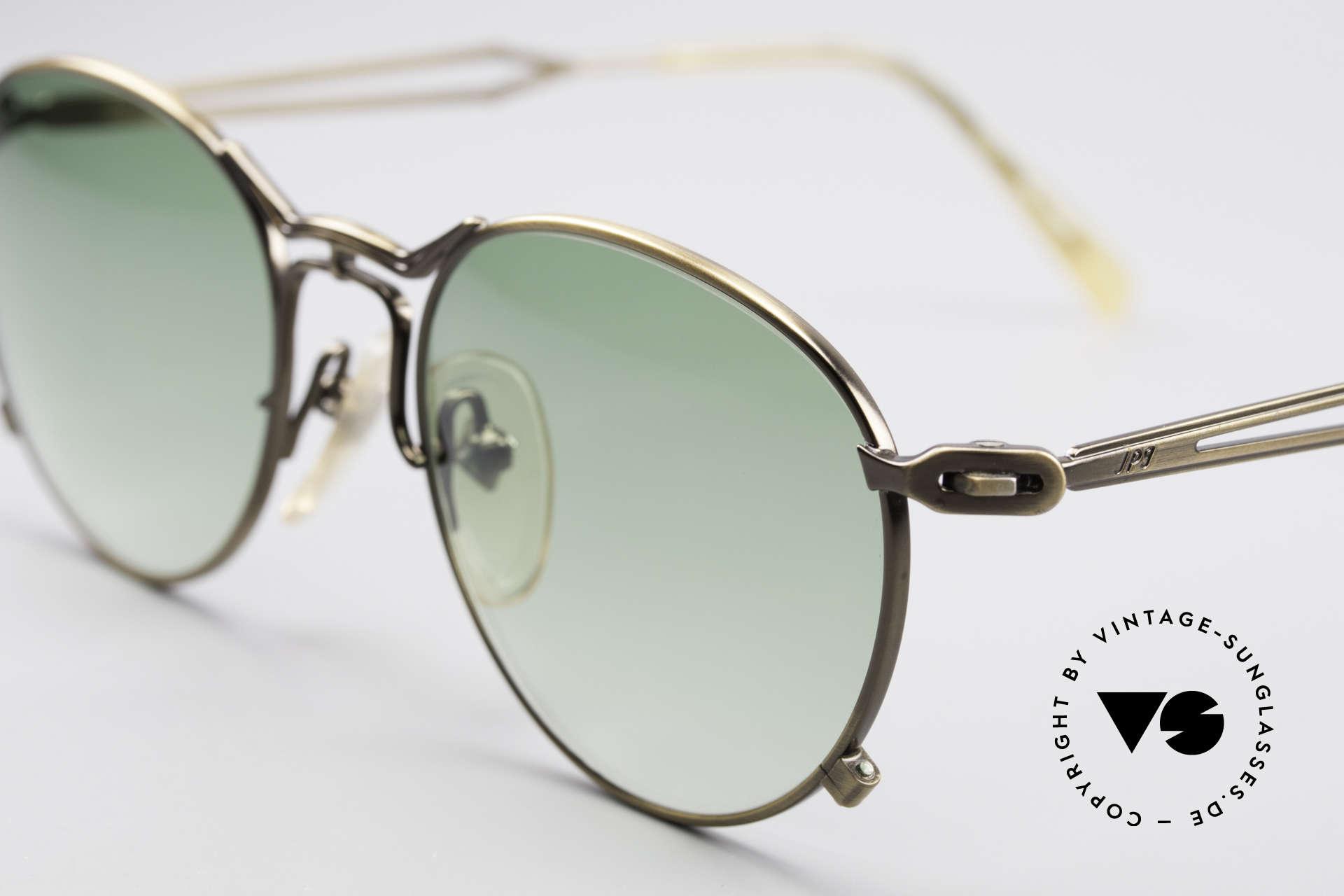 Jean Paul Gaultier 55-2177 True Vintage No Retro Frame, with elegant green-gradient sun lenses (100% UV prot.), Made for Men and Women