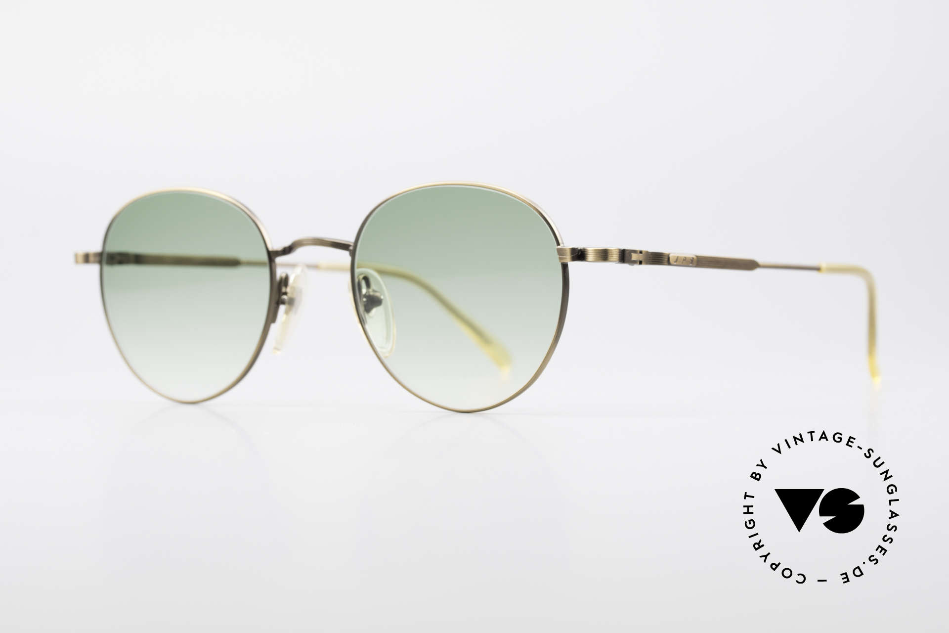 "Jean Paul Gaultier 55-1174 Round Designer Sunglasses, also called by Gaultier: ""burnt gold"" or ""antique gold"", Made for Men and Women"