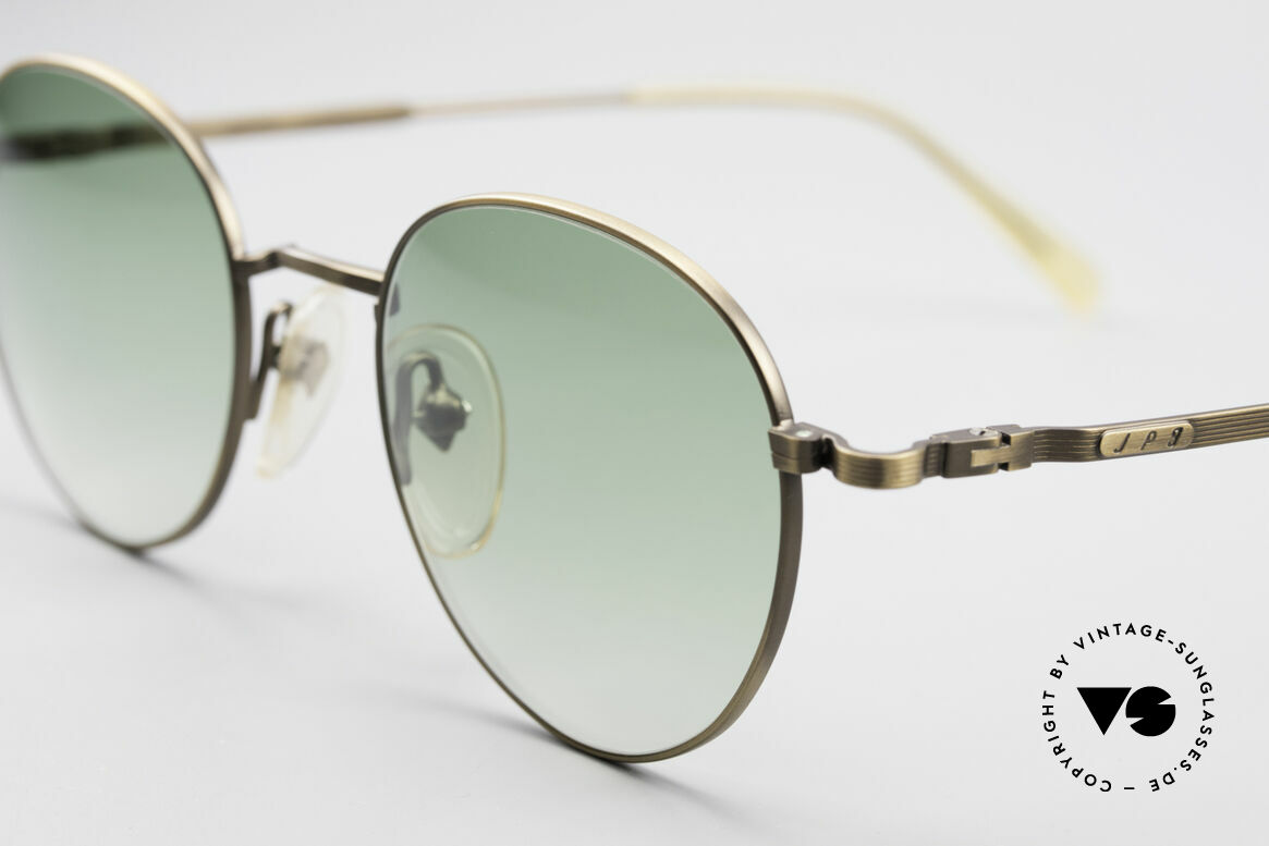 Jean Paul Gaultier 55-1174 Round Designer Sunglasses, with noble green-gradient sun lenses (100% UV prot.), Made for Men and Women