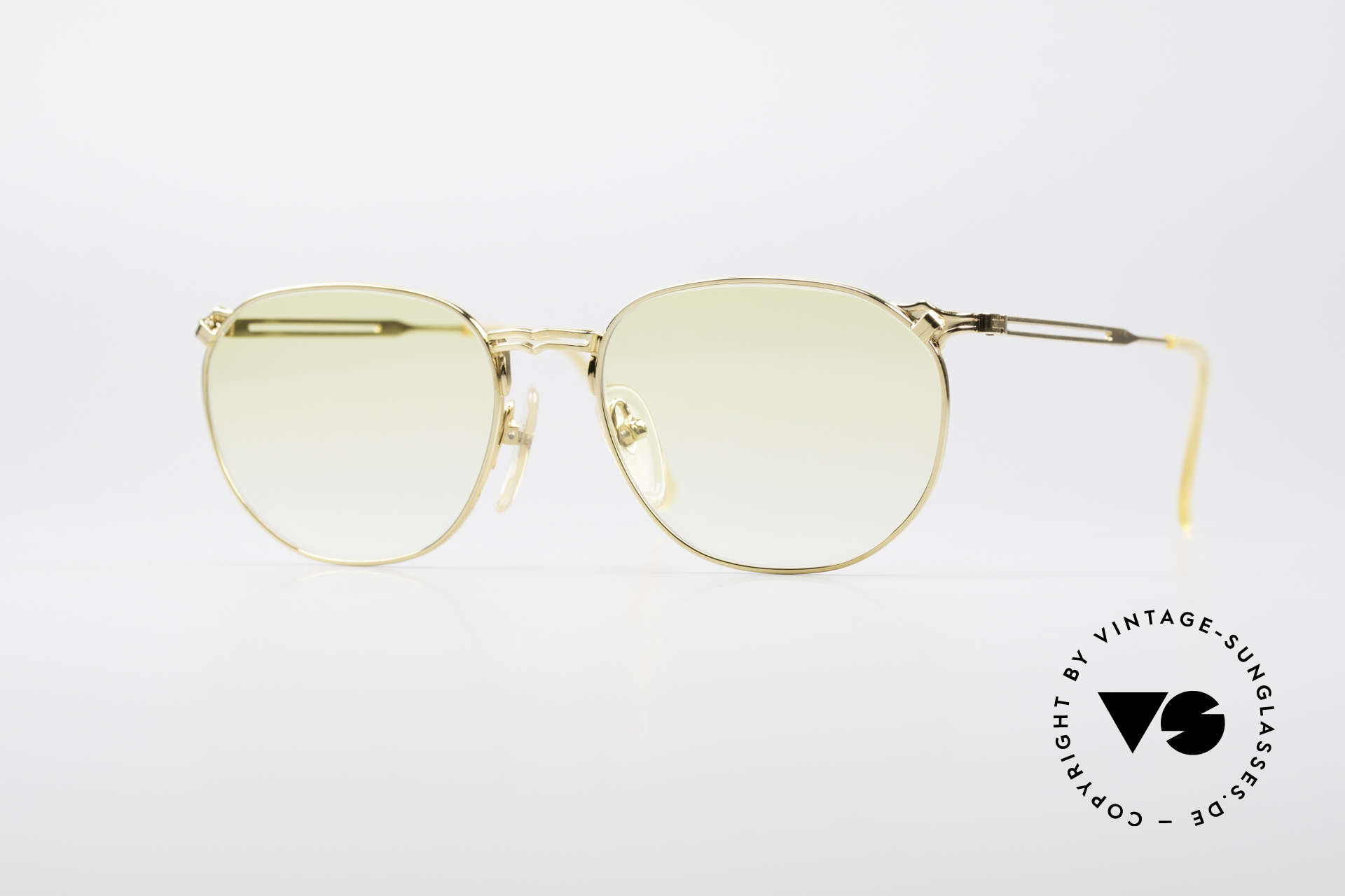Jean Paul Gaultier 55-2173 Gold Plated Designer Frame, interesting vintage J.P. GAULTIER designer sunglasses, Made for Men and Women
