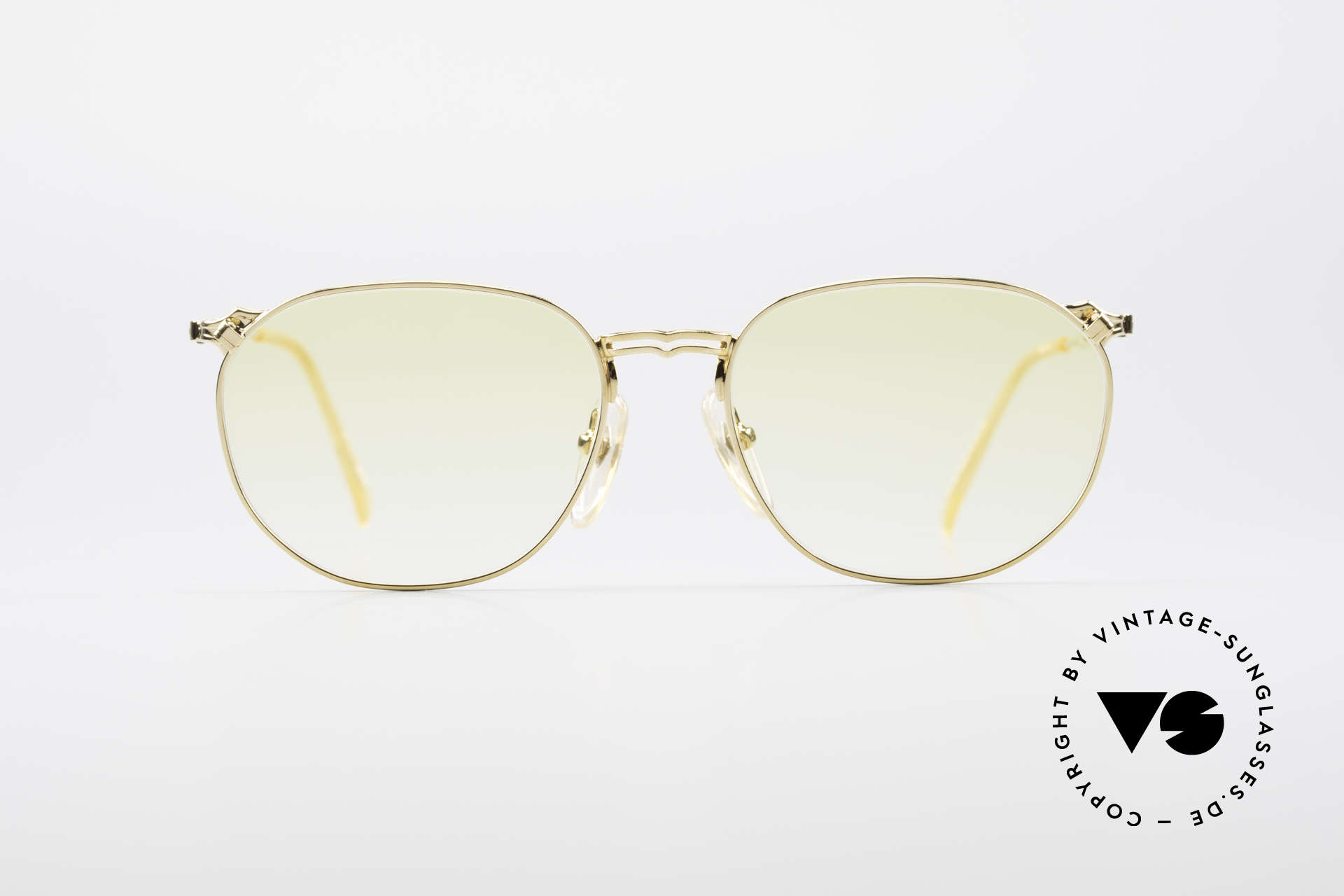 Jean Paul Gaultier 55-2173 Gold Plated Designer Frame, noble gold-plated frame with yellow gradient sun lenses, Made for Men and Women