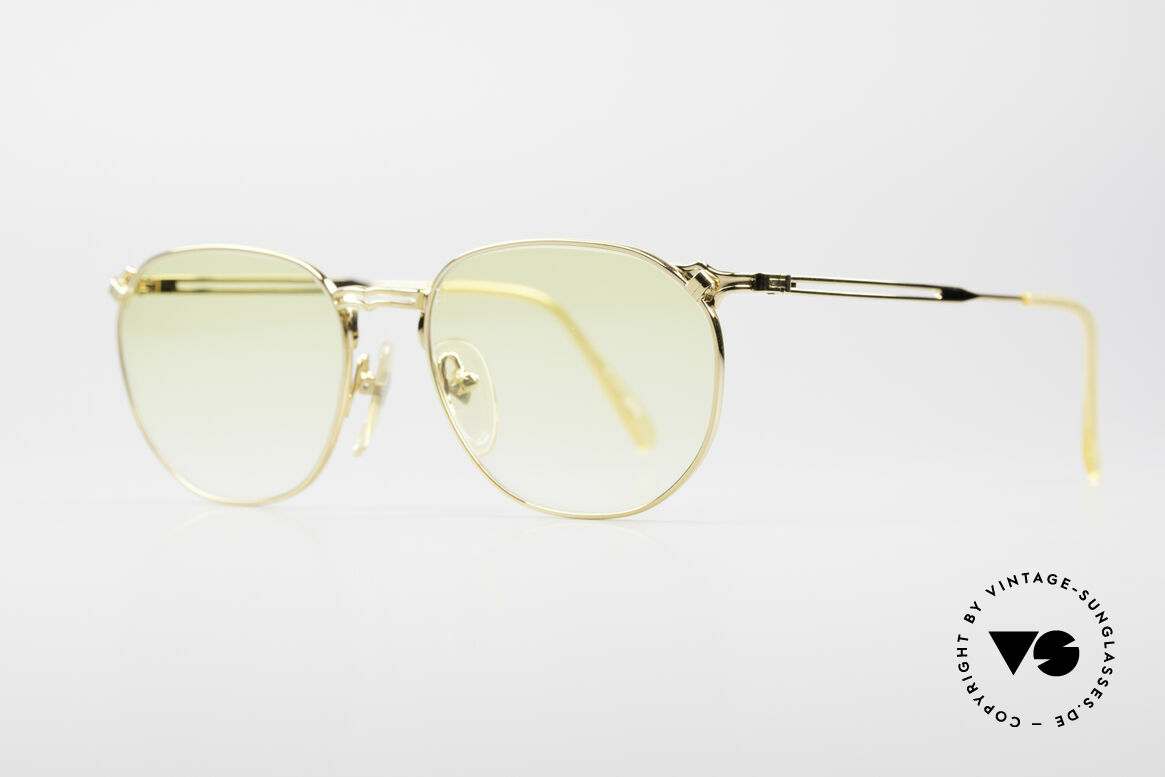 Jean Paul Gaultier 55-2173 Gold Plated Designer Frame, thus, also wearable at night (multifunctional accessory), Made for Men and Women