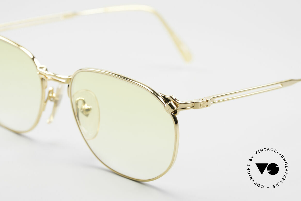 Jean Paul Gaultier 55-2173 Gold Plated Designer Frame, top-notch craftsmanship (made in Japan) from 1996/97, Made for Men and Women