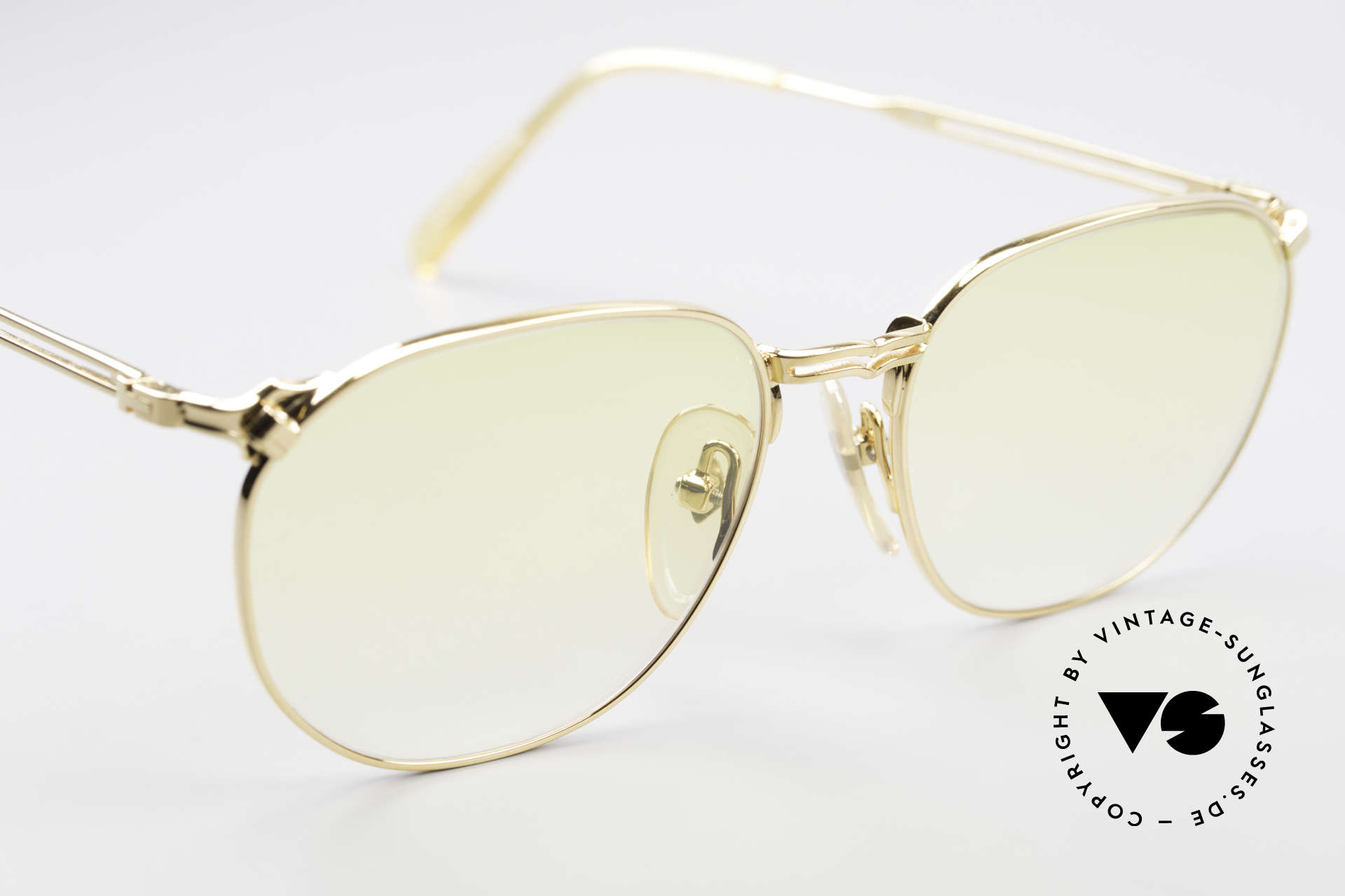 Jean Paul Gaultier 55-2173 Gold Plated Designer Frame, unworn (like all our rare vintage 90's designer glasses), Made for Men and Women