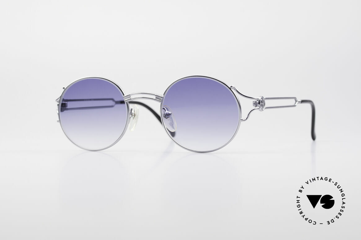 Jean Paul Gaultier 57-6102 Round 90's Designer Glasses, round vintage designer sunglasses by Jean Paul Gaultier, Made for Men and Women