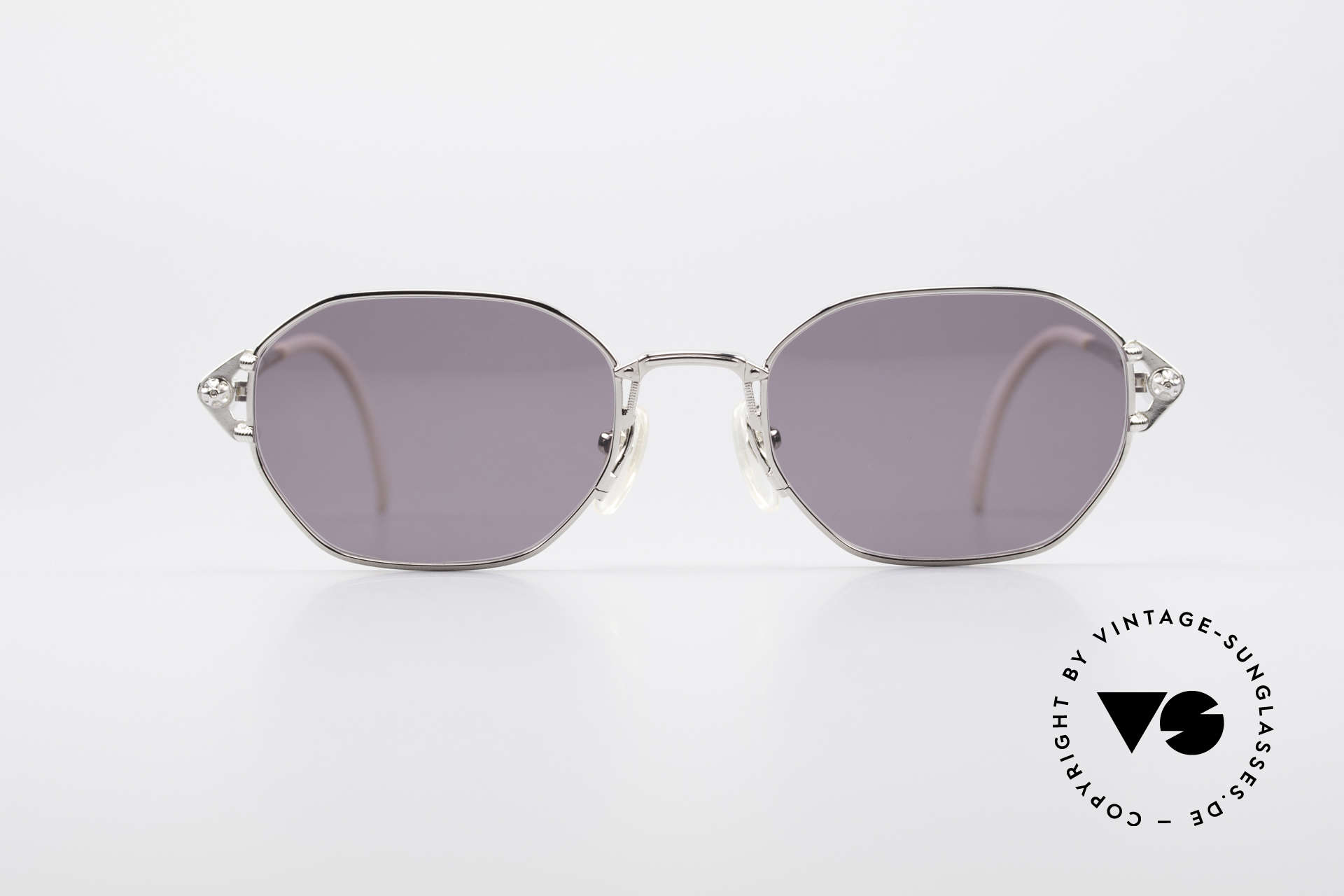 Jean Paul Gaultier 55-6106 90's Vintage Sunglasses, lightweight frame with many fancy details (check pics), Made for Men and Women