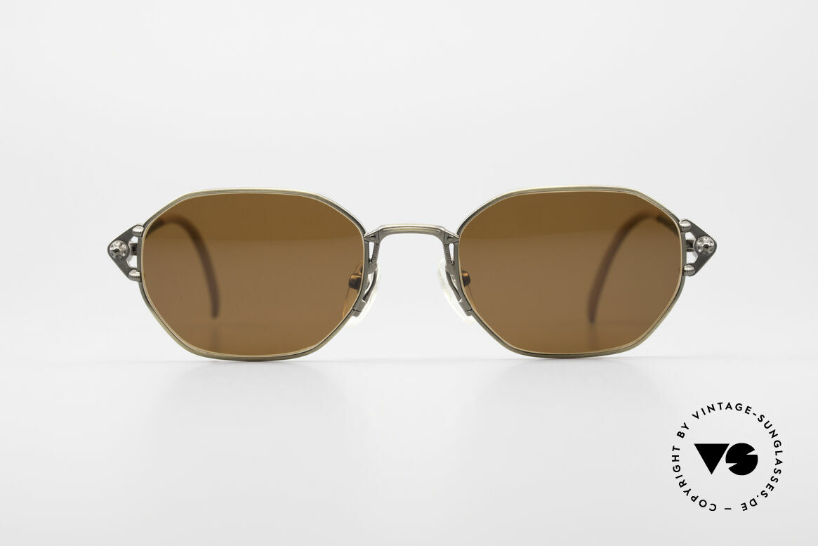 Jean Paul Gaultier 55-6106 90's Designer Sunglasses, solid metal frame with many fancy details (check pics), Made for Men and Women