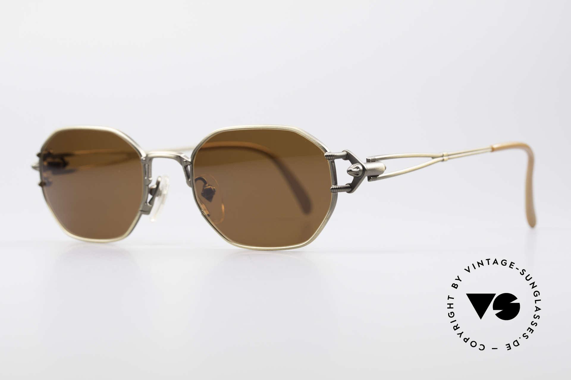 Jean Paul Gaultier 55-6106 90's Designer Sunglasses, 'mechanical design' = distinctive GAULTIER collection, Made for Men and Women