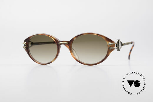 Jean Paul Gaultier 55-5201 Oval Steampunk Shades Details