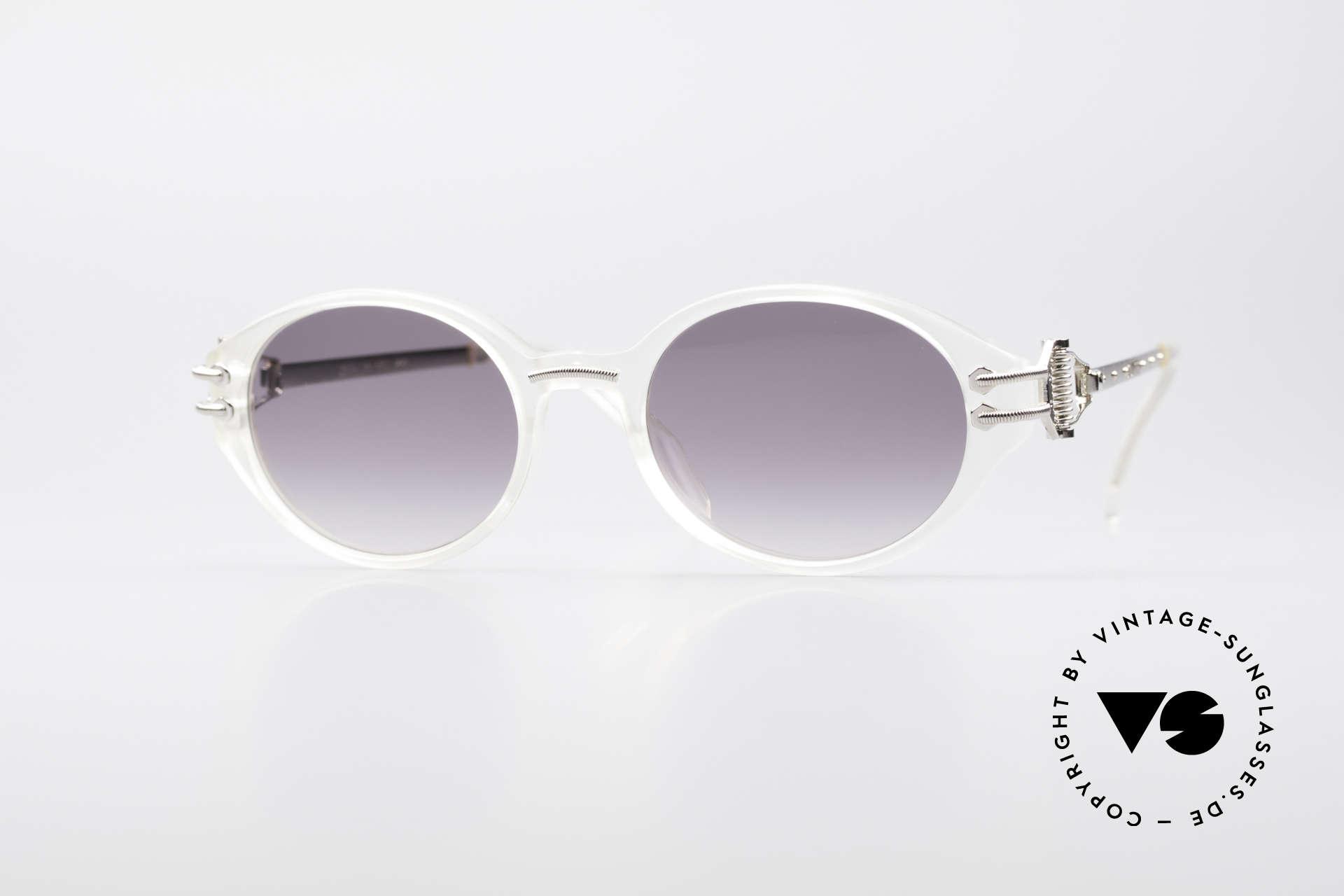 Jean Paul Gaultier 55-5201 90's Steampunk Shades, rare 1990's Jean Paul Gaultier designer sunglasses, Made for Men and Women