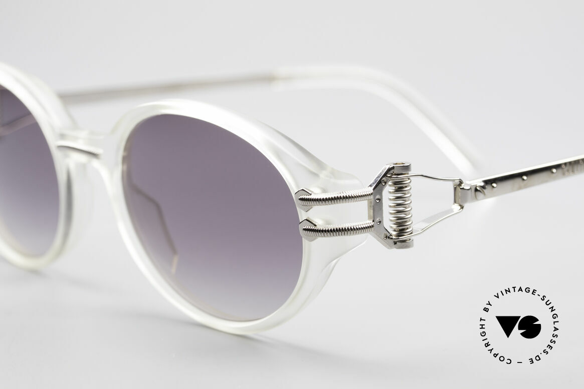 Jean Paul Gaultier 55-5201 90's Steampunk Shades, fancy, costly, high-class = Gaultier vintage glasses, Made for Men and Women