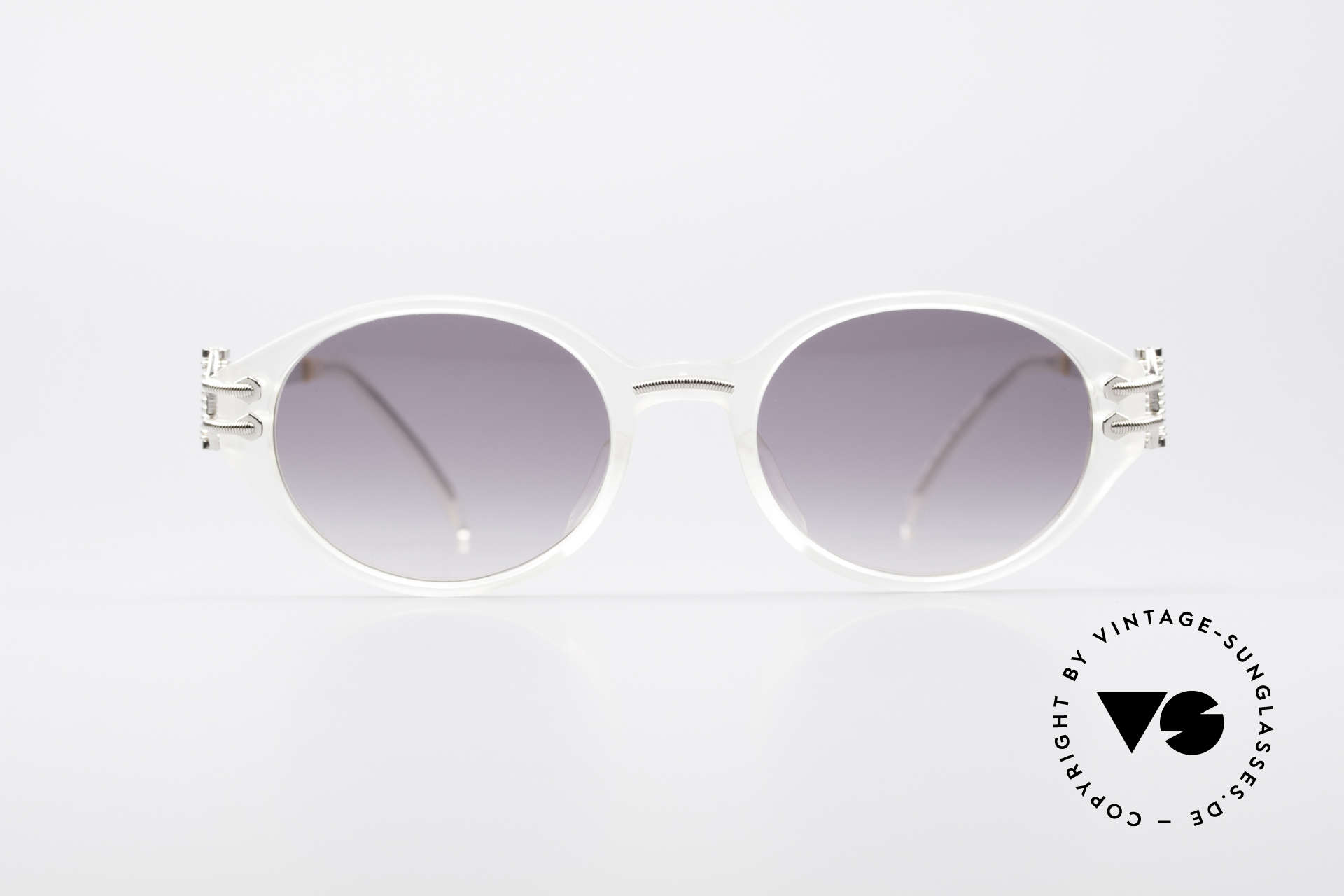Jean Paul Gaultier 55-5201 90's Steampunk Shades, very interesting (mechanical) frame construction, Made for Men and Women