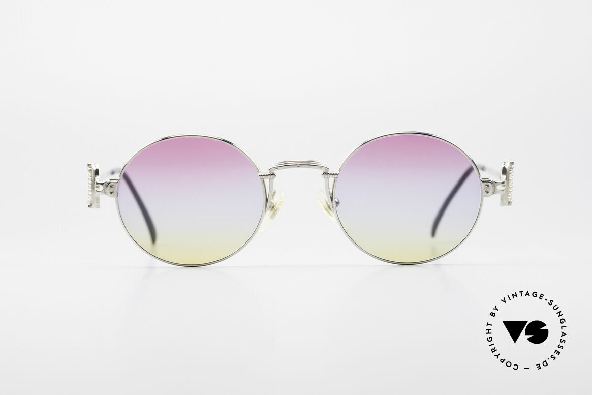 Jean Paul Gaultier 55-5106 Designer Vintage Shades, lightweight frame with many fancy details (check pics!), Made for Men and Women
