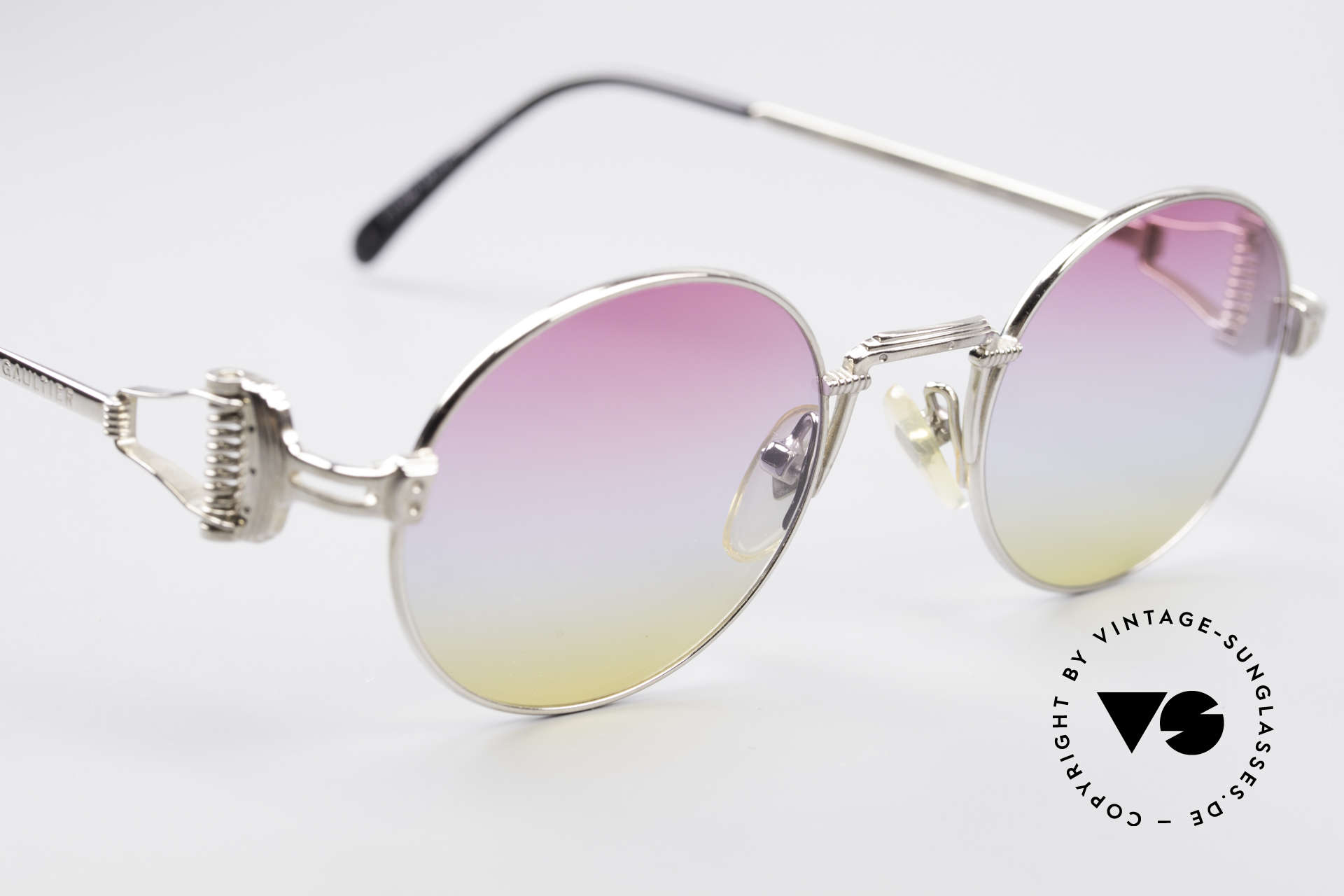 Jean Paul Gaultier 55-5106 Designer Vintage Shades, the triple tint looks like a sunrise (simply heavenly :-), Made for Men and Women