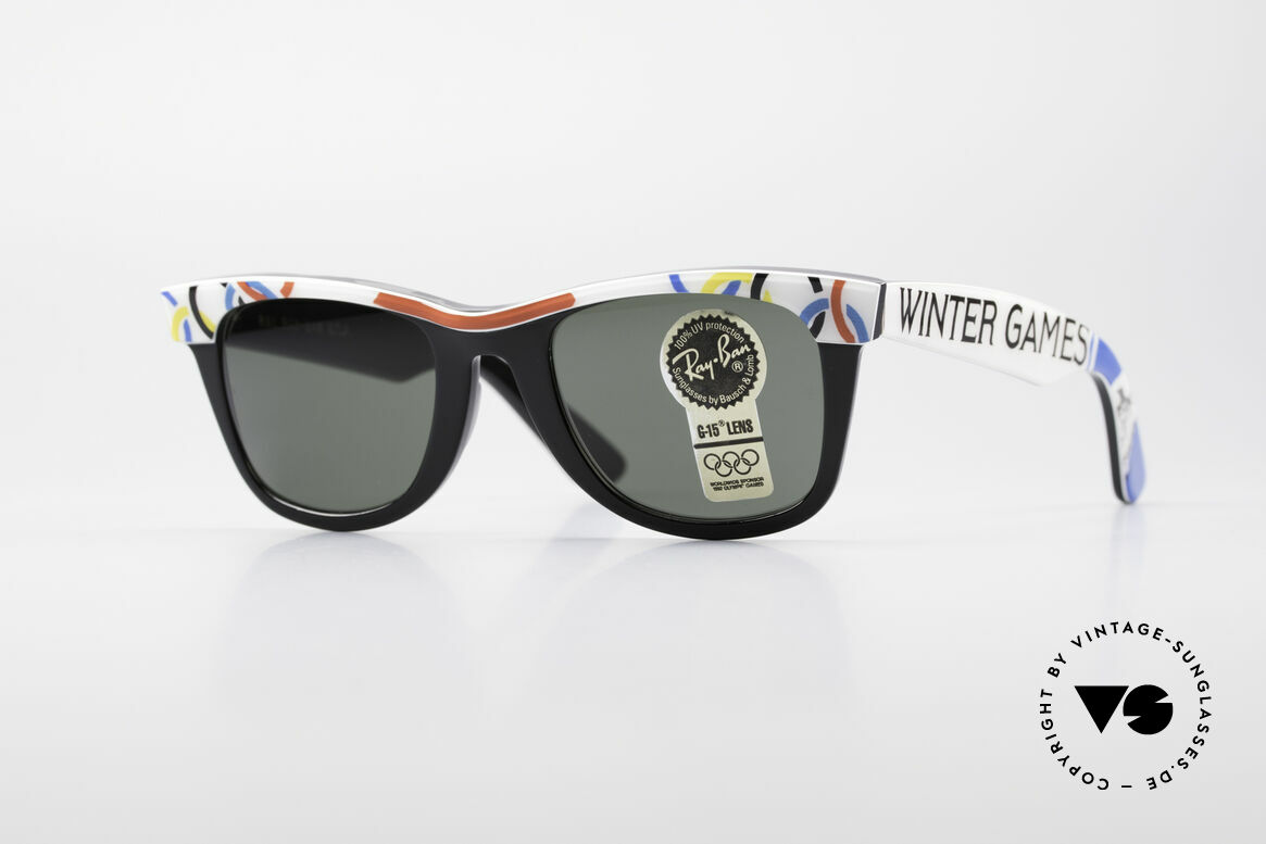 Ray Ban Wayfarer I Olympic Games St. Moritz, LIMITED Bausch&Lomb vintage Wayfarer sunglasses, Made for Men and Women