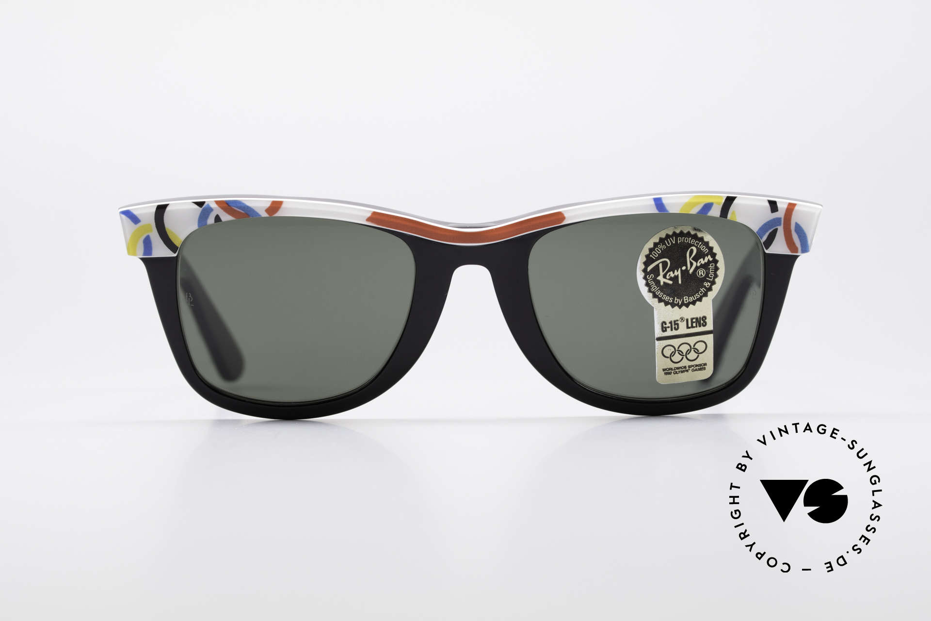 Ray Ban Wayfarer I Olympic Games St. Moritz, rare Olympia Series - sports edition 'St. Moritz 1928', Made for Men and Women
