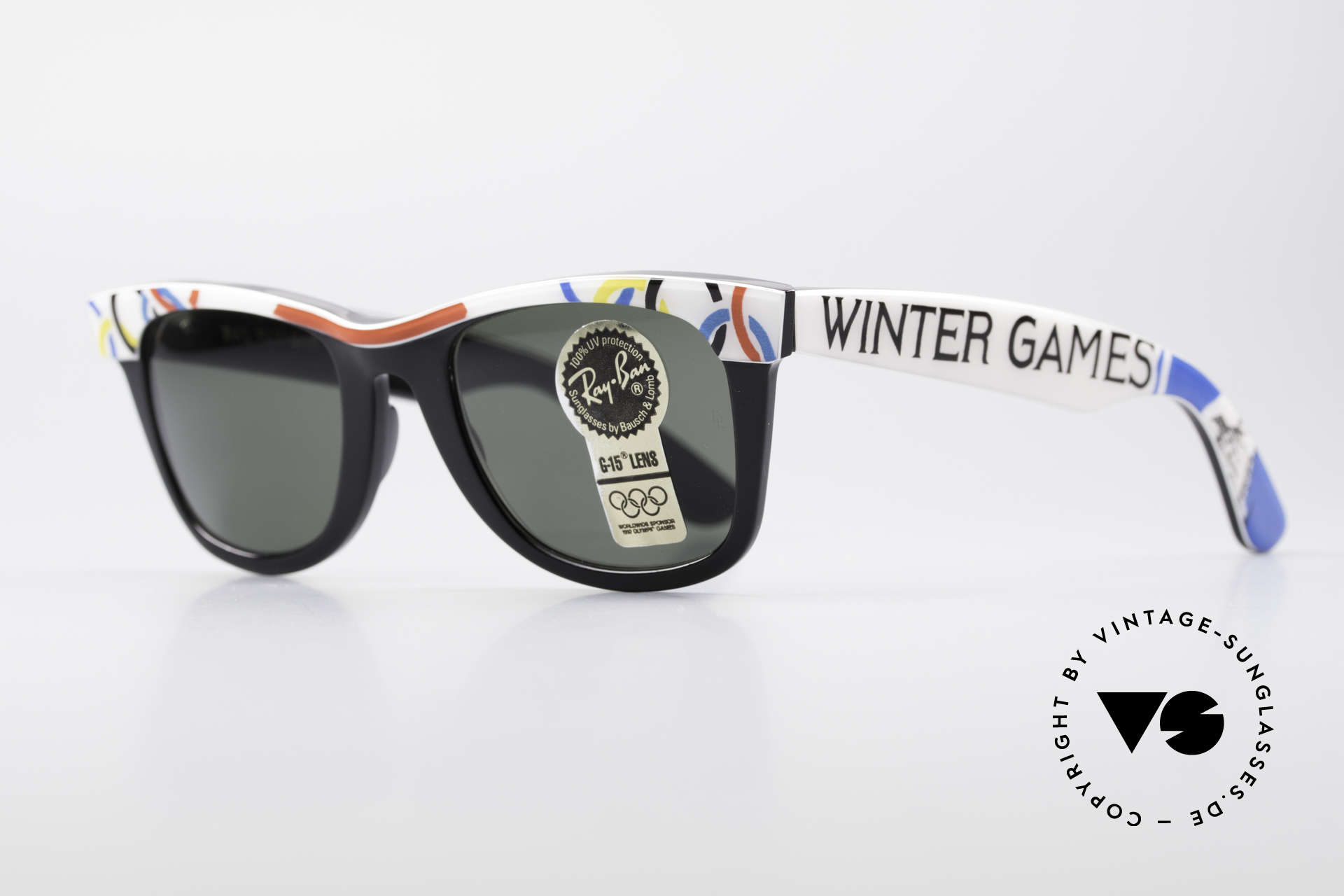 Ray Ban Wayfarer I Olympic Games St. Moritz, B&L quality mineral lenses (for 100% UV-protection), Made for Men and Women