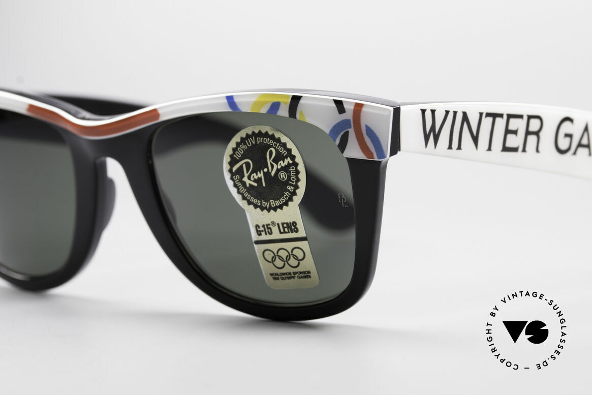 Ray Ban Wayfarer I Olympic Games St. Moritz, unworn B&L rarity (a real collector's item, worldwide), Made for Men and Women