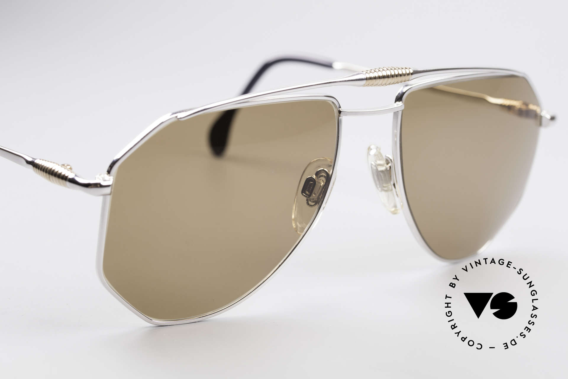 Zollitsch Cadre 120 Large Aviator Sunglasses, NO retro shades, but a 30 years old original, L size 58/18, Made for Men