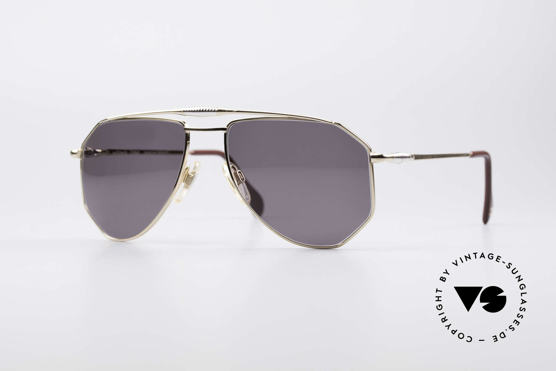 Zollitsch Cadre 120 Medium 80's Aviator Shades, vintage Zollitsch designer sunglasses from the late 80's, Made for Men