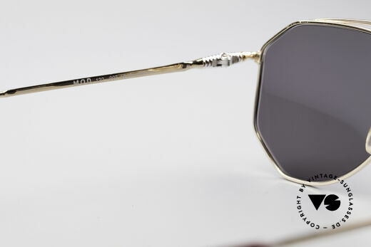 Zollitsch Cadre 120 Medium 80's Aviator Shades, golden frame with dark gray lenses (100% UV protection), Made for Men