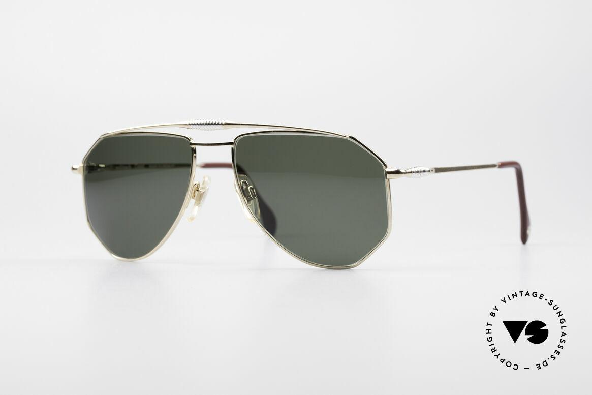 Zollitsch Cadre 120 Medium 80's Aviator Glasses, vintage Zollitsch designer sunglasses from the late 80's, Made for Men